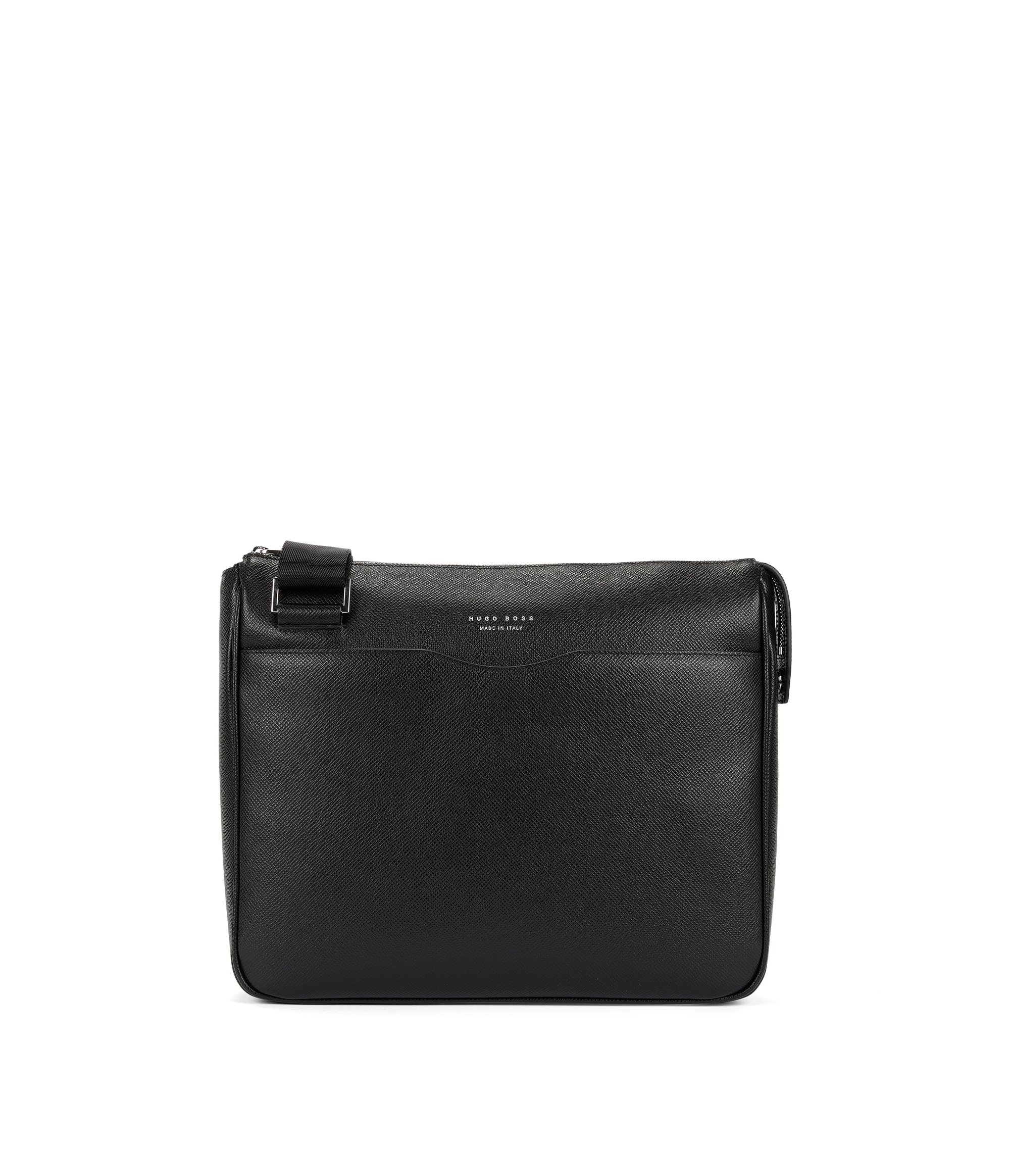 Leather Crossbody | Signature Cross Body, Black