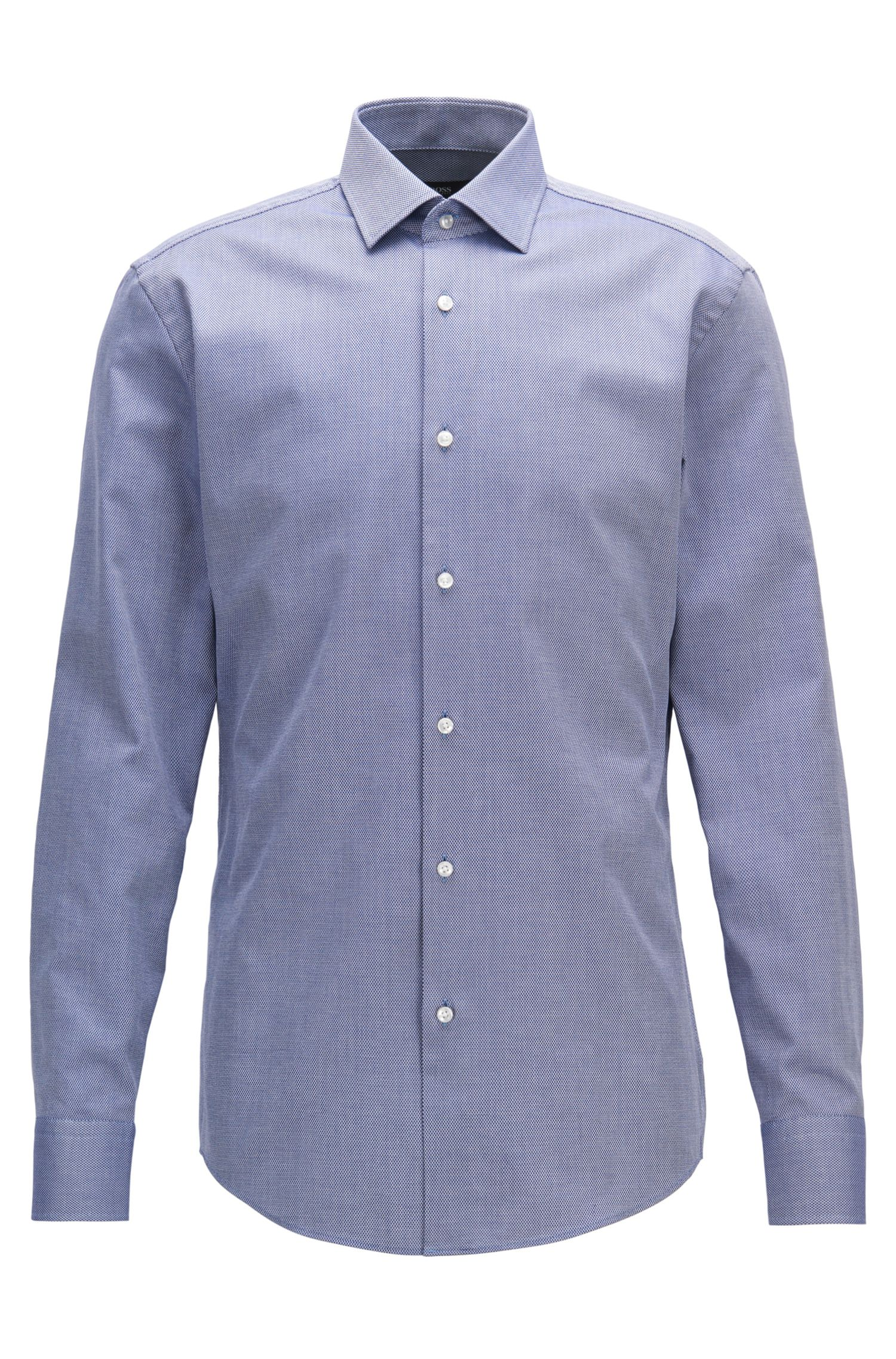Birdseye Cotton Dress Shirt, Slim Fit | Jenno