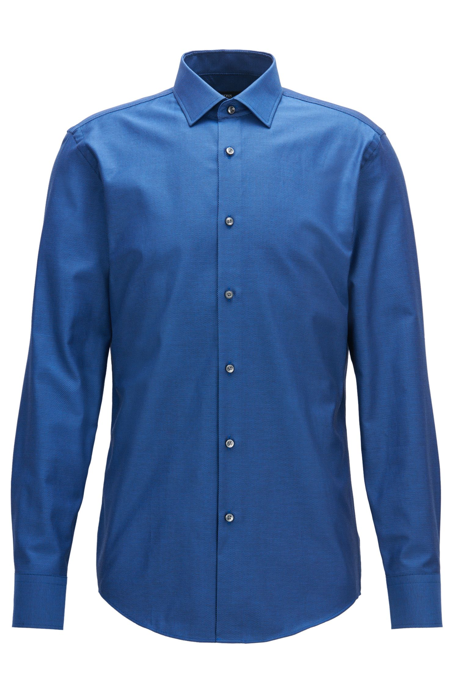 Birdseye Cotton Dress Shirt, Slim Fit | Jenno
