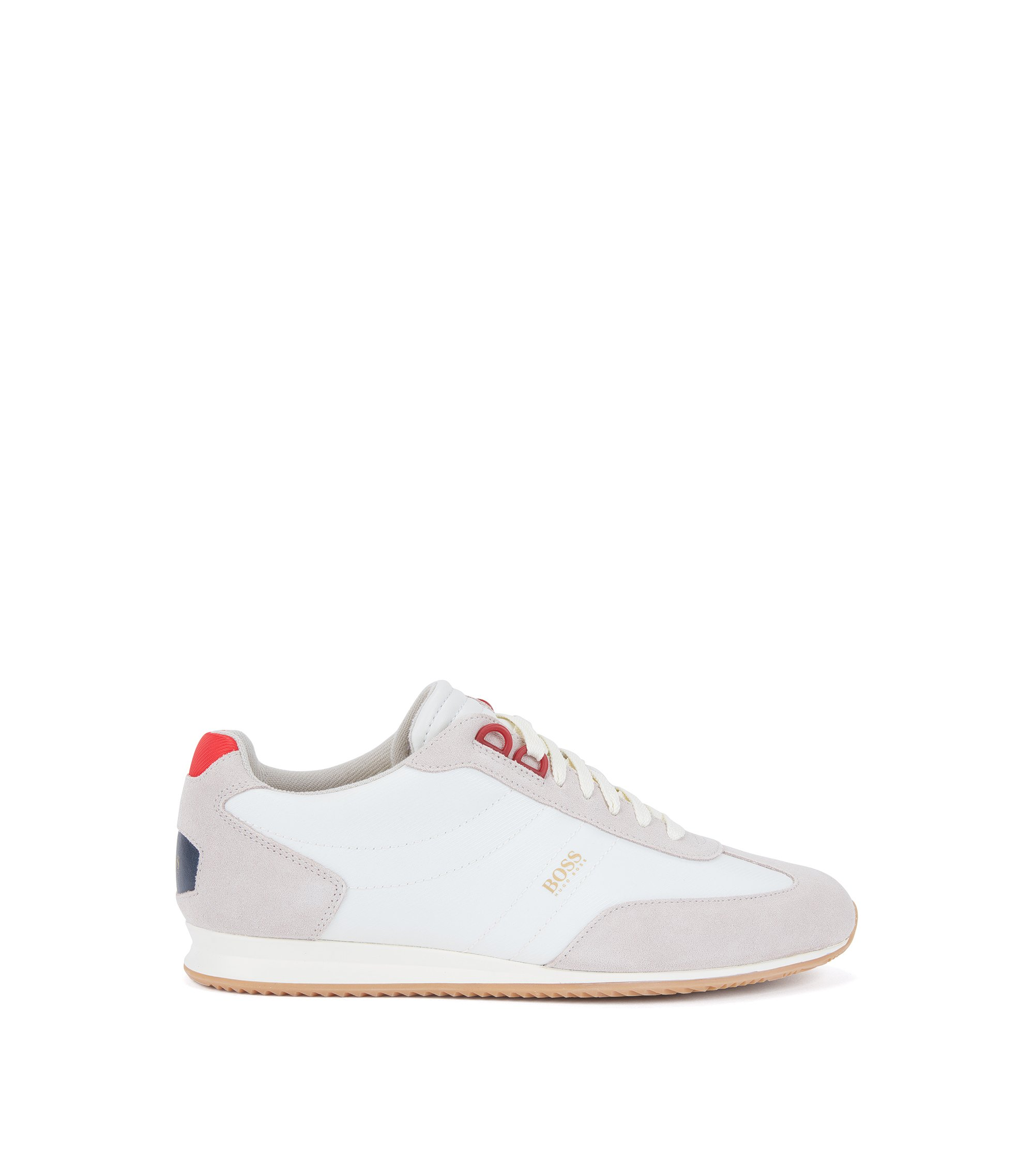 Suede & Nylon Sneaker | Orland Lowp Sdny, Open White