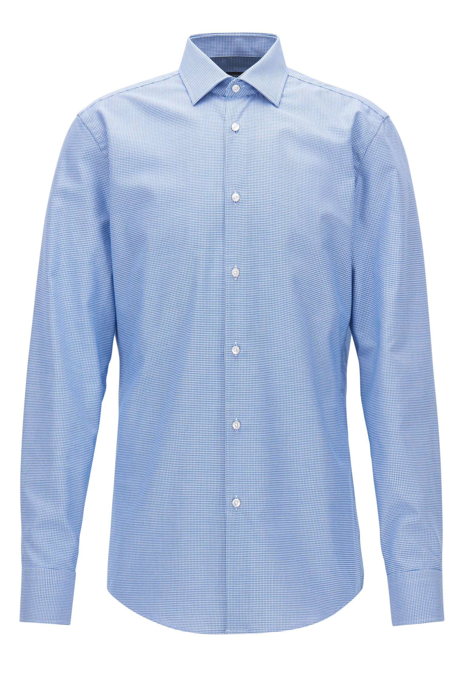 Puppytooth Cotton Dress Shirt, Slim Fit | Jenno