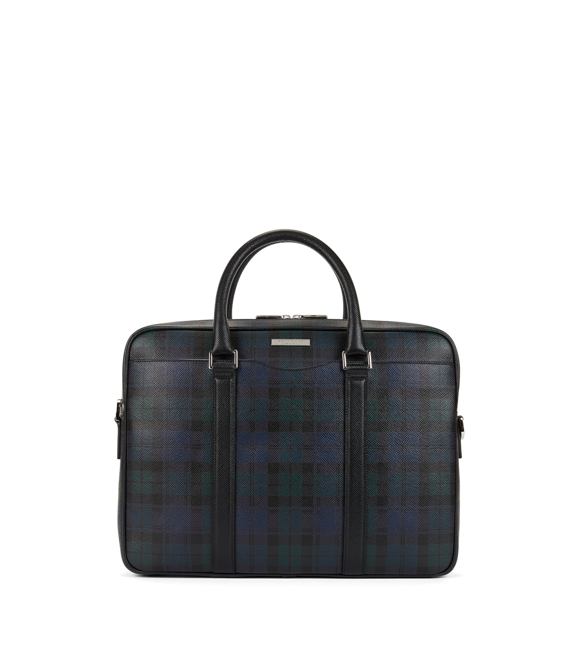 Signature Palmellato Leather Soft Briefcase | Signature BW S Doc, Patterned