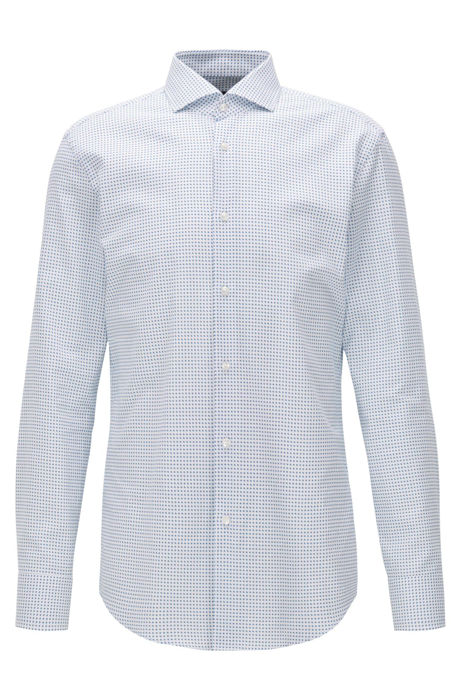 Dotted Cotton Dress Shirt, Slim Fit | Jason
