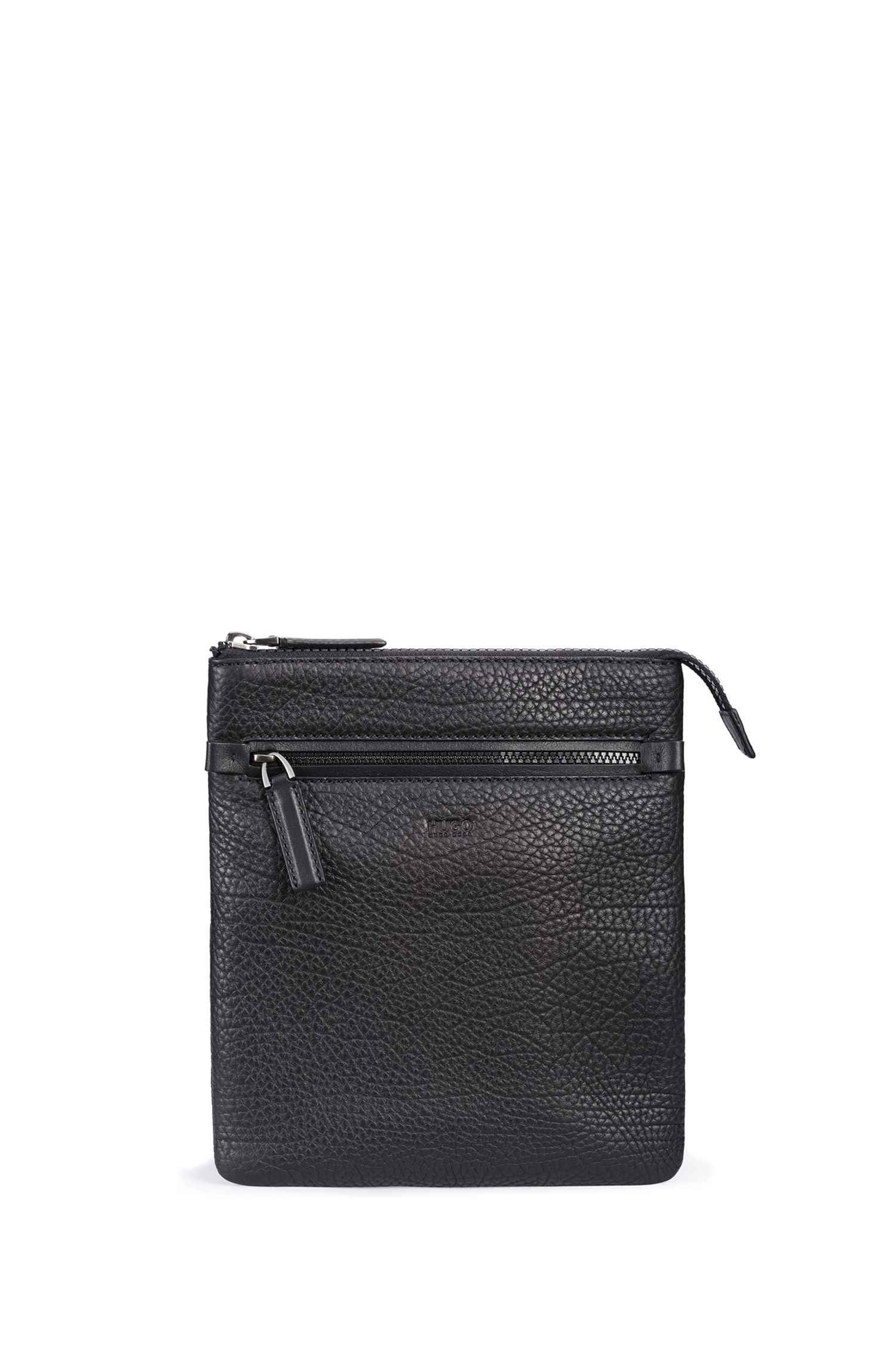 Leather Crossbody Bag | Victorian S Zip Env, Black