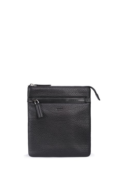 dc8b98629ed HUGO - Leather Crossbody Bag