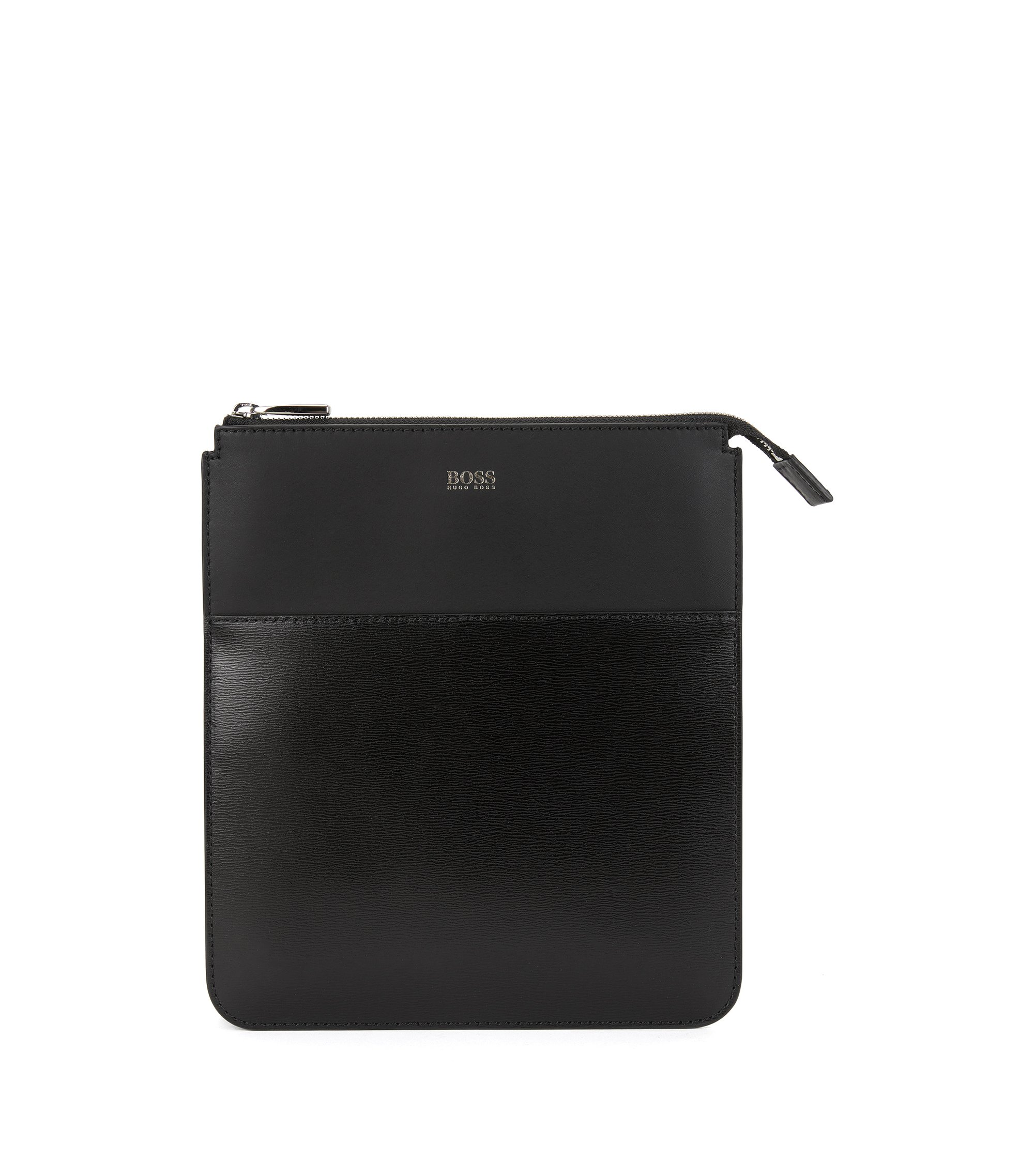 Crossbody  Bag | Leather Signature BW S Z Eng, Black
