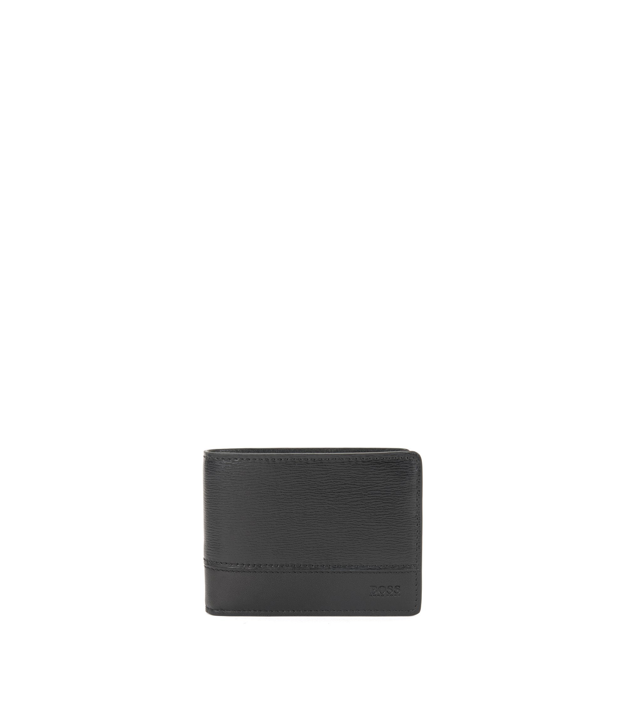 Leather Billfold Wallet | Focus 6 cc, Black