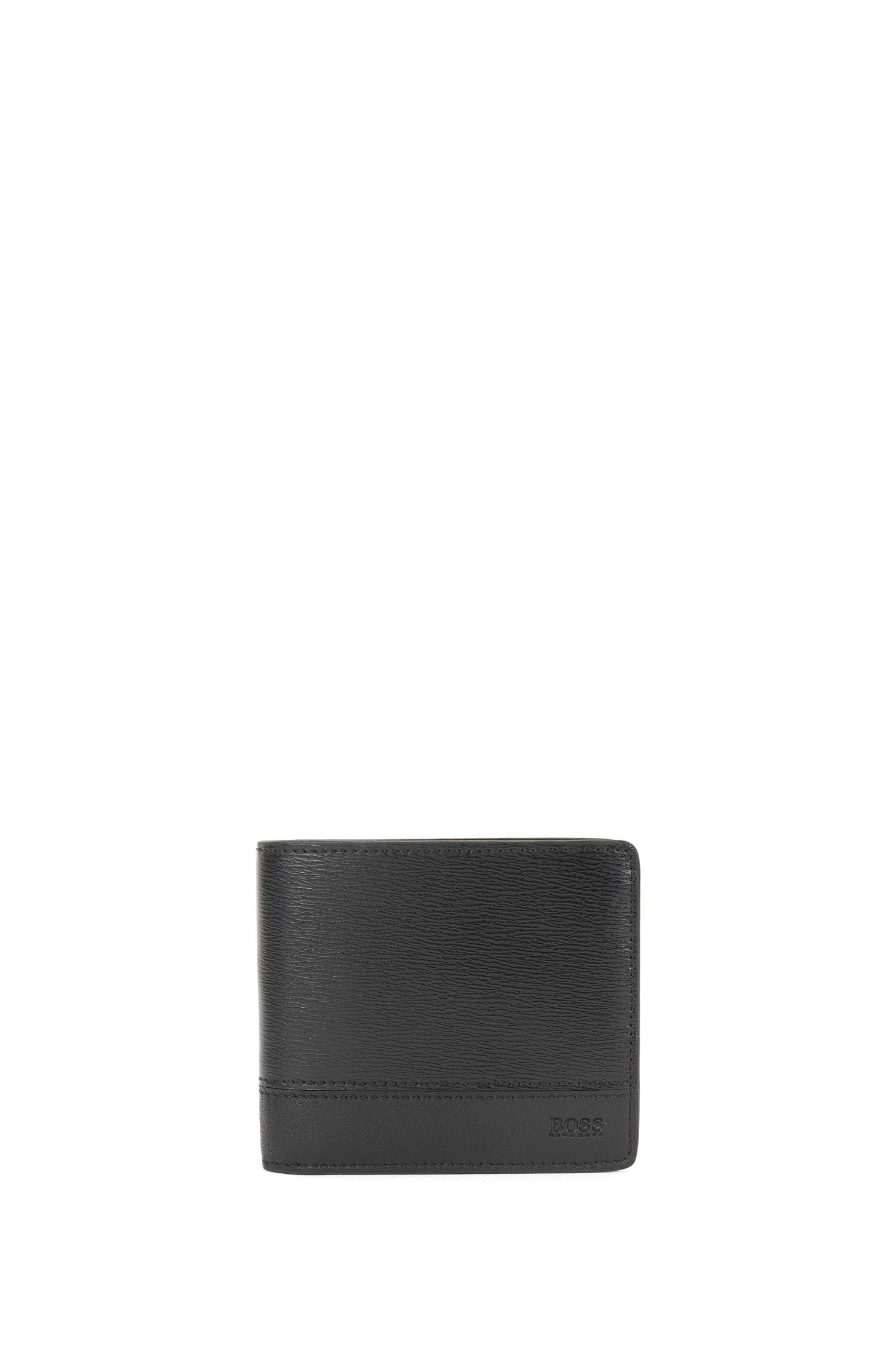 Leather Wallet With Coin Pouch | Focus 4 CC Coin, Black