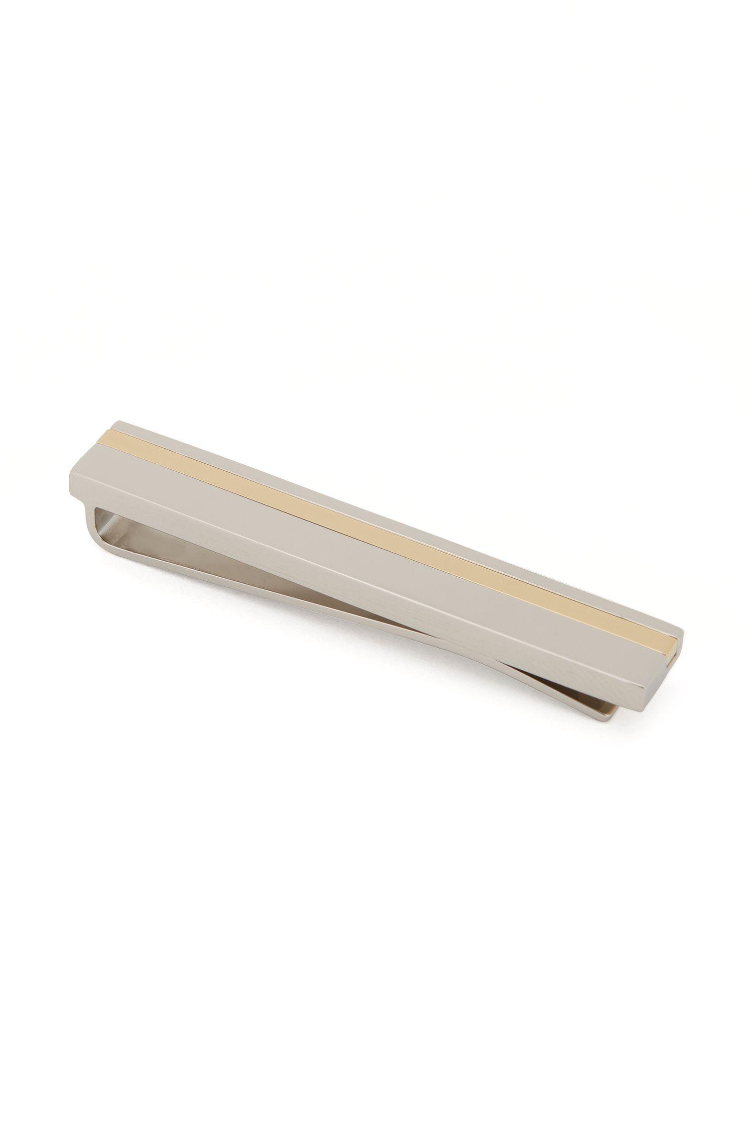 Striped Brass Tie Bar | Tick