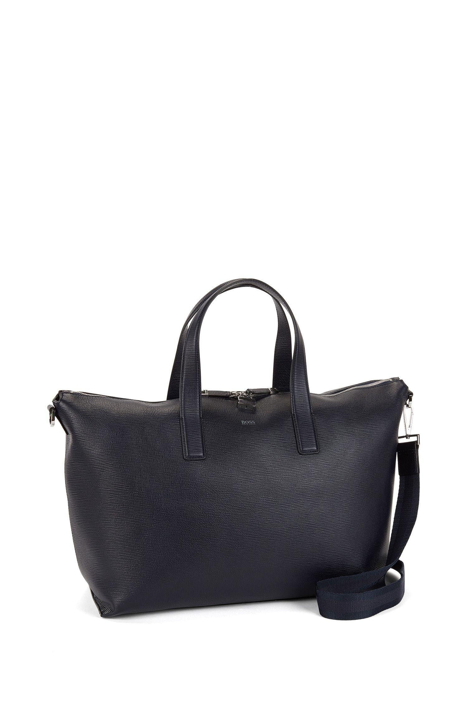 Leather Bag | Timeless Holdall, Dark Blue