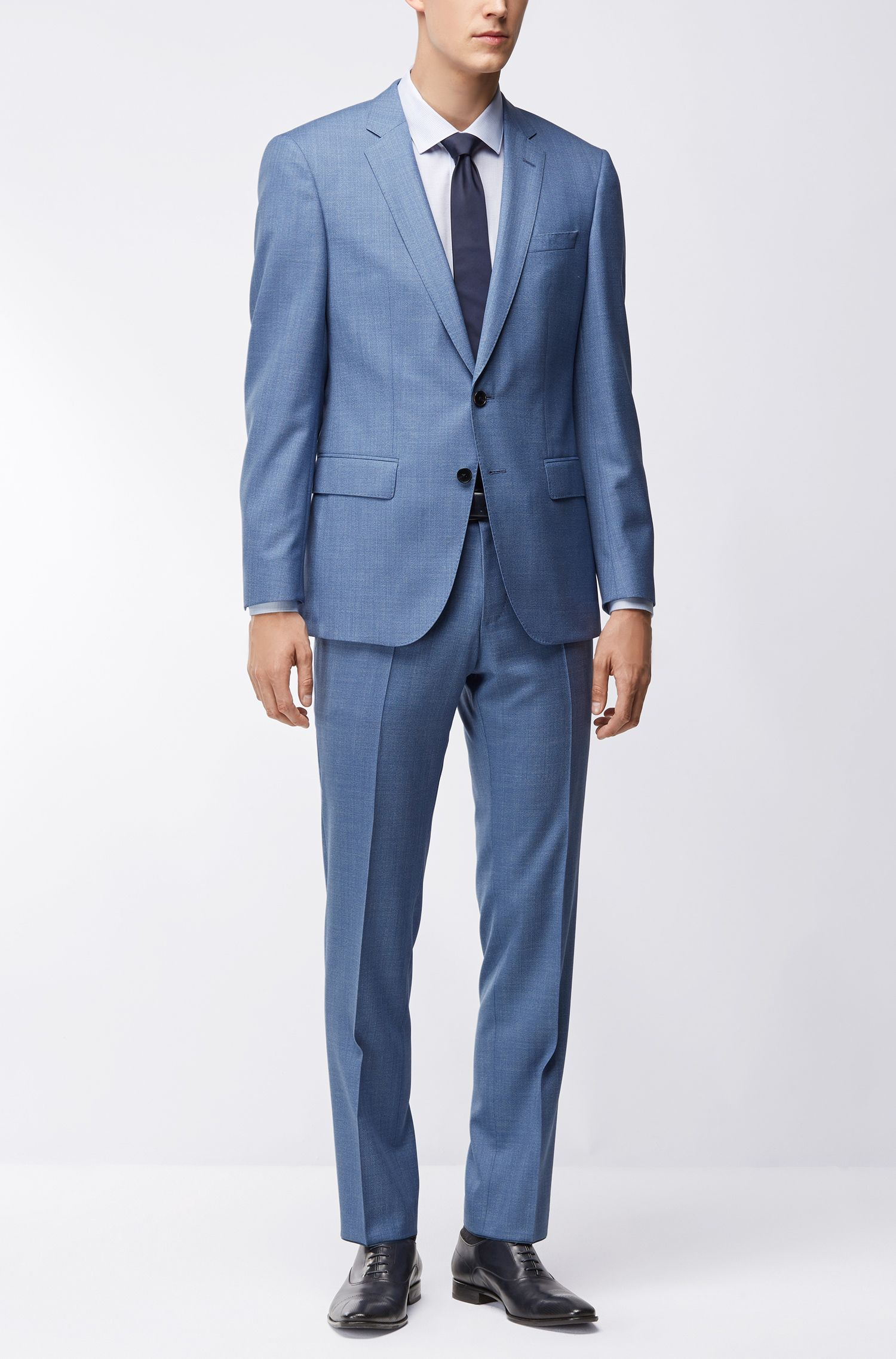 Super 120s Virgin Wool Suit, Slim Fit | Huge/Genius, Light Blue