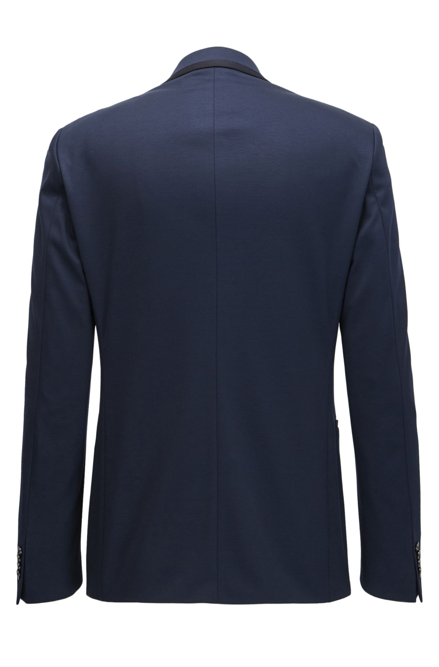 Stretch Tailoring Jersey Tuxedo, Slim Fit | Novan/Ben, Dark Blue