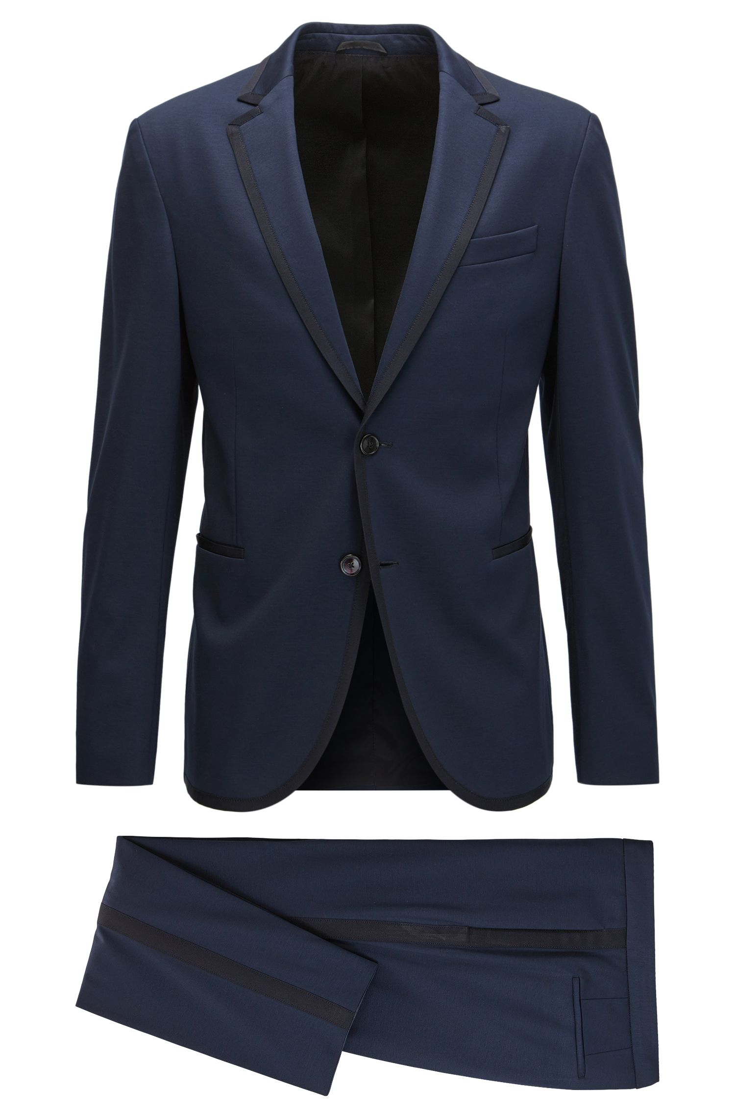 Stretch Tailoring Jersey Tuxedo, Slim Fit | Novan/Ben