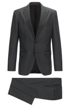Virgin Wool-Silk Tuxedo, Regular Fit | Jelvan/Livan, Black