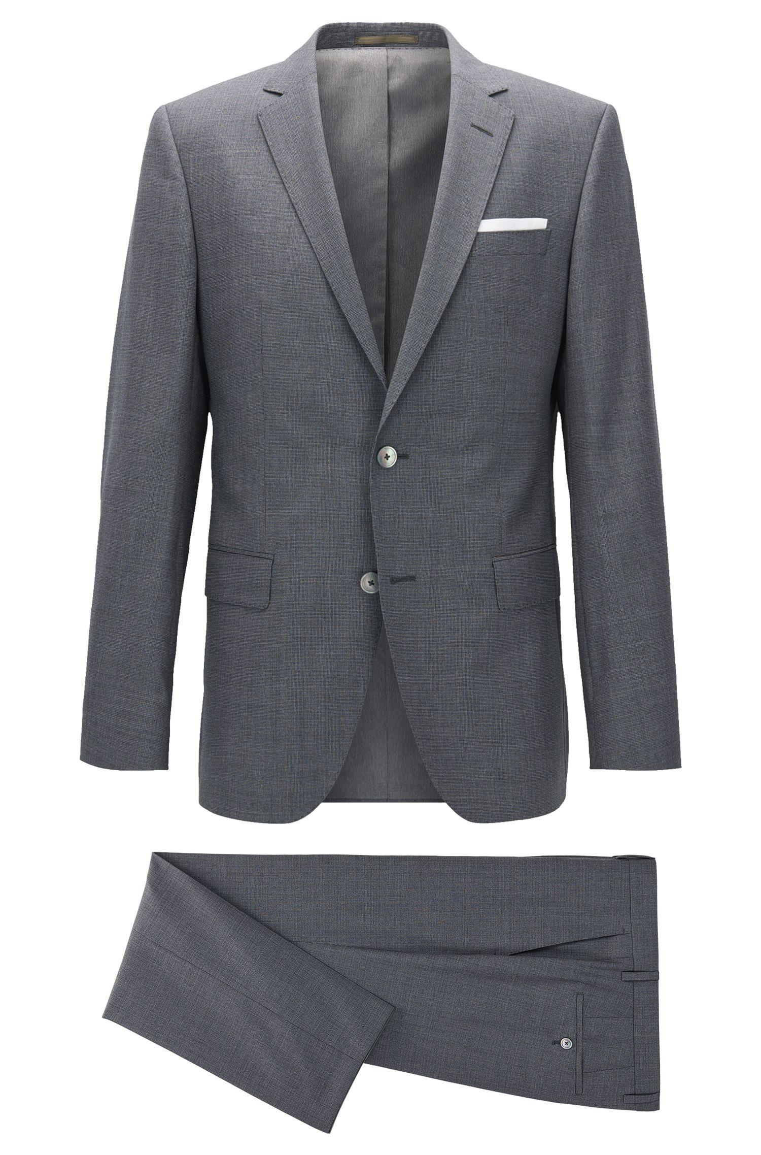 Heathered Virgin Wool Suit, Slim Fit | Hutson/Gander
