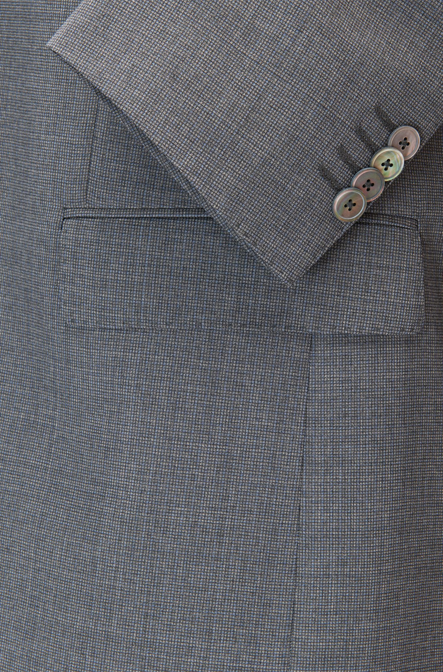 Heathered Virgin Wool Suit, Slim Fit | Hutson/Gander, Grey