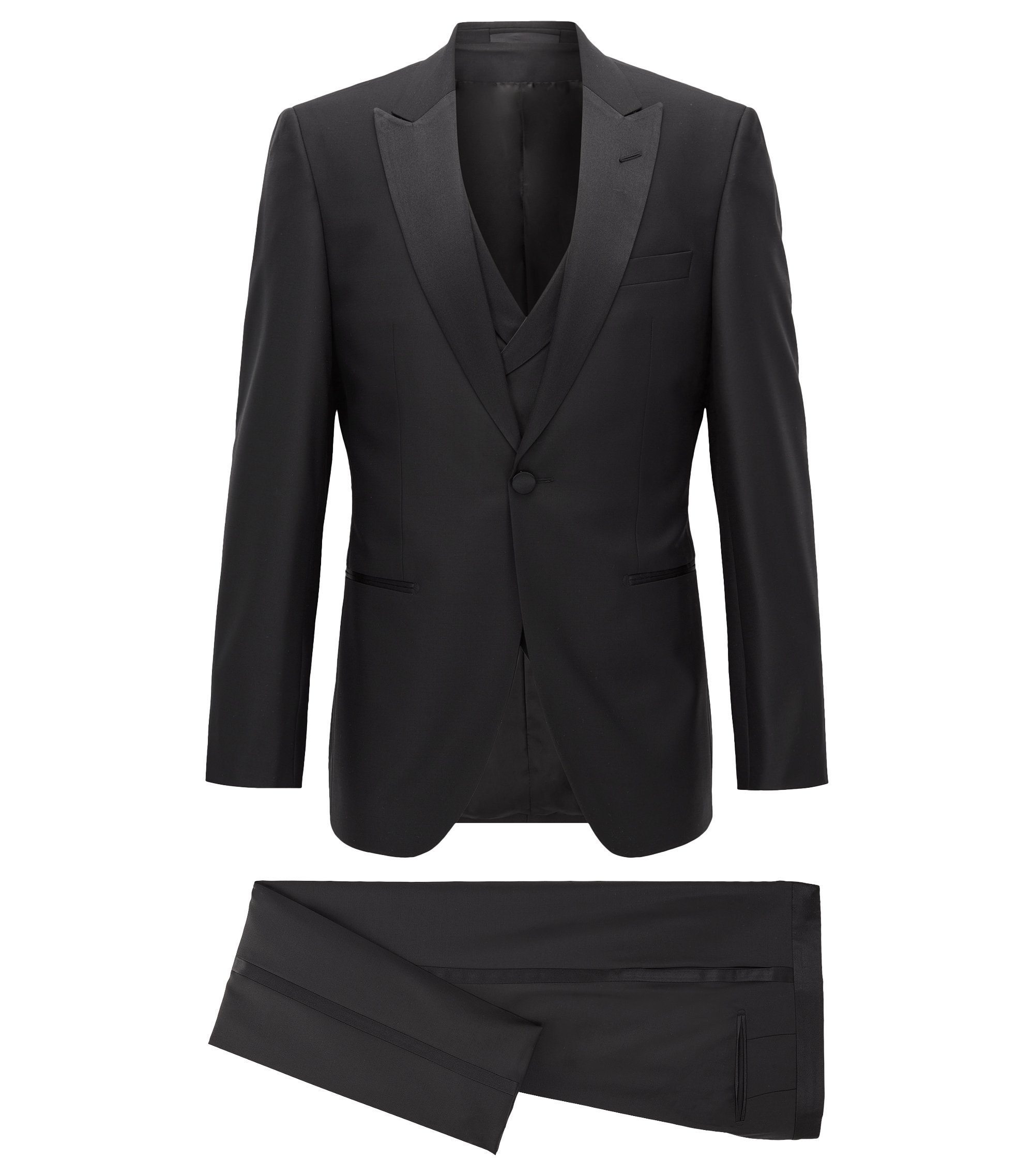 Italian Wool Tuxedo, Slim Fit | T-Hardon/Glore WE, Black