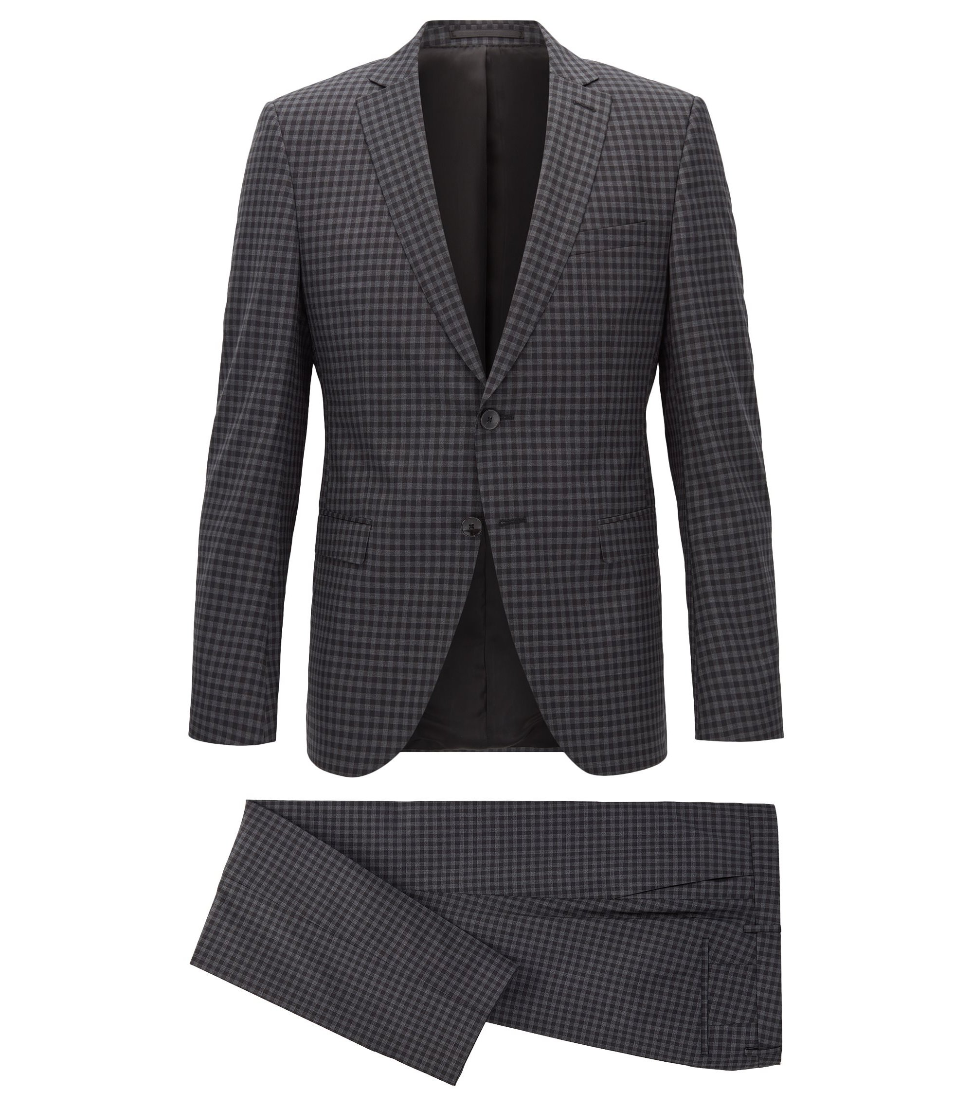 Italian Virgin Wool Suit, Extra Slim Fit | Reymond/Wenten, Open Grey