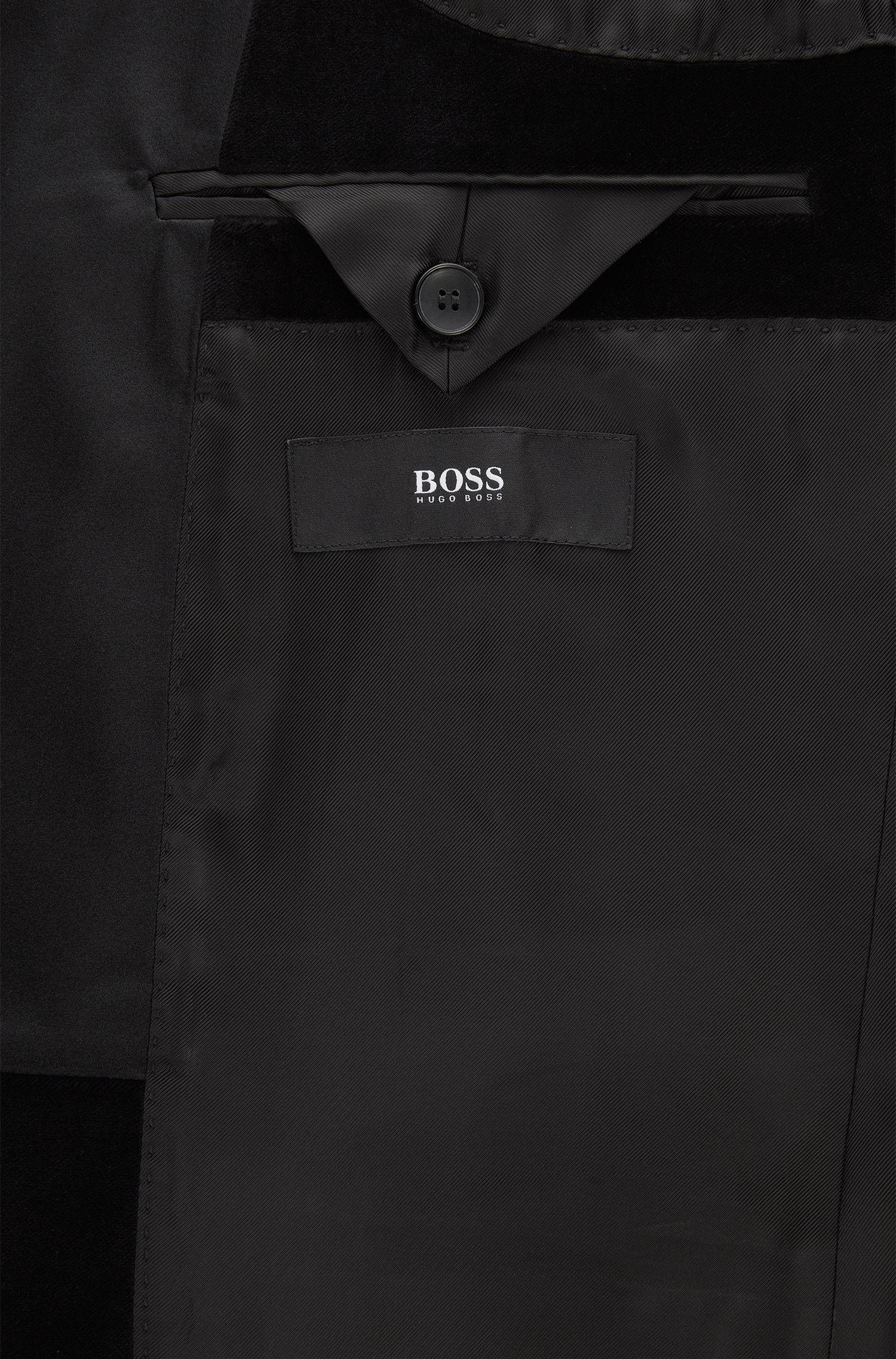 Velvet Tuxedo, Slim Fit | Herwyn/Gewon, Black