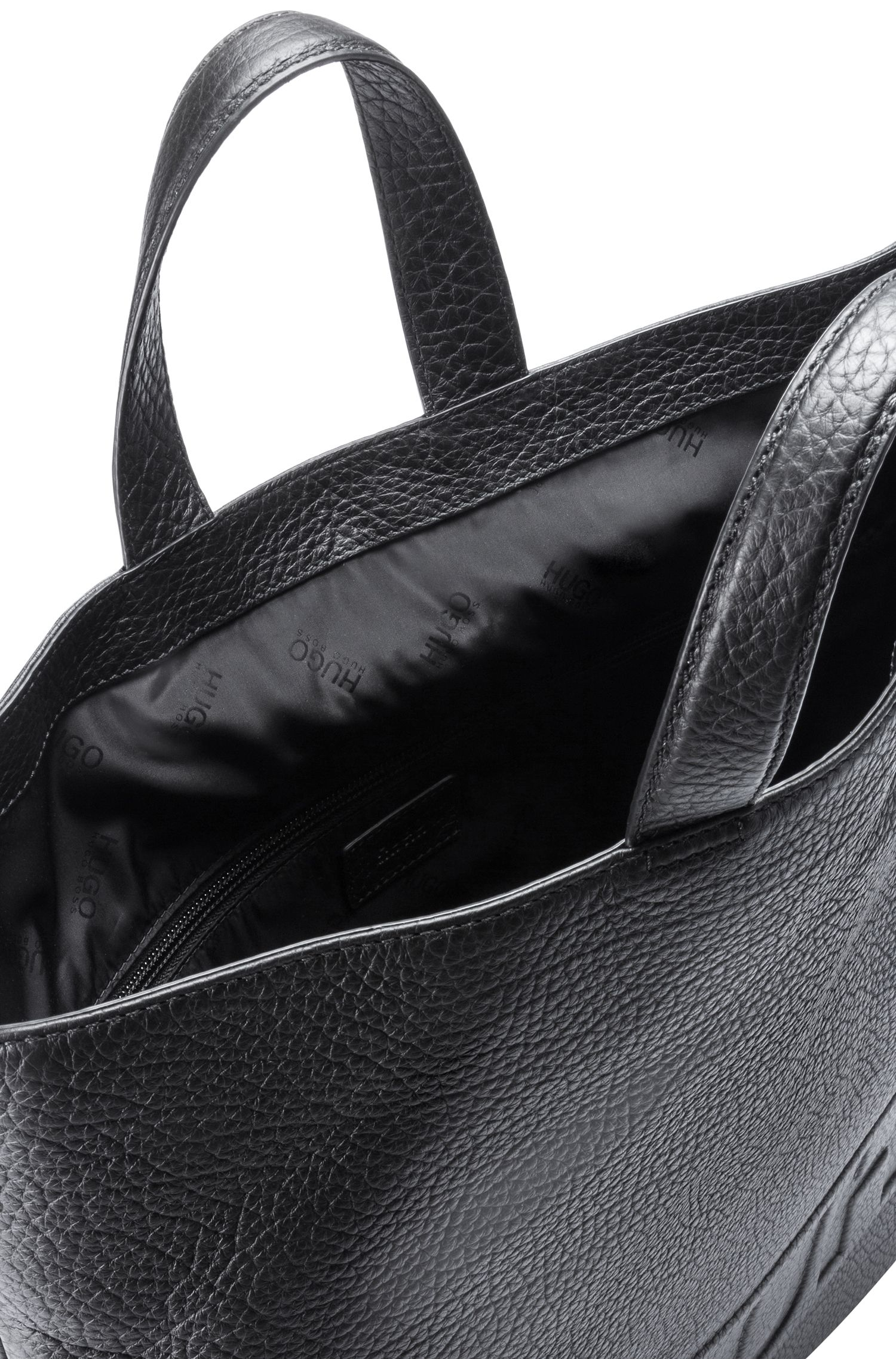 Leather Tote Backpack | Victorian L Tote Bac , Black