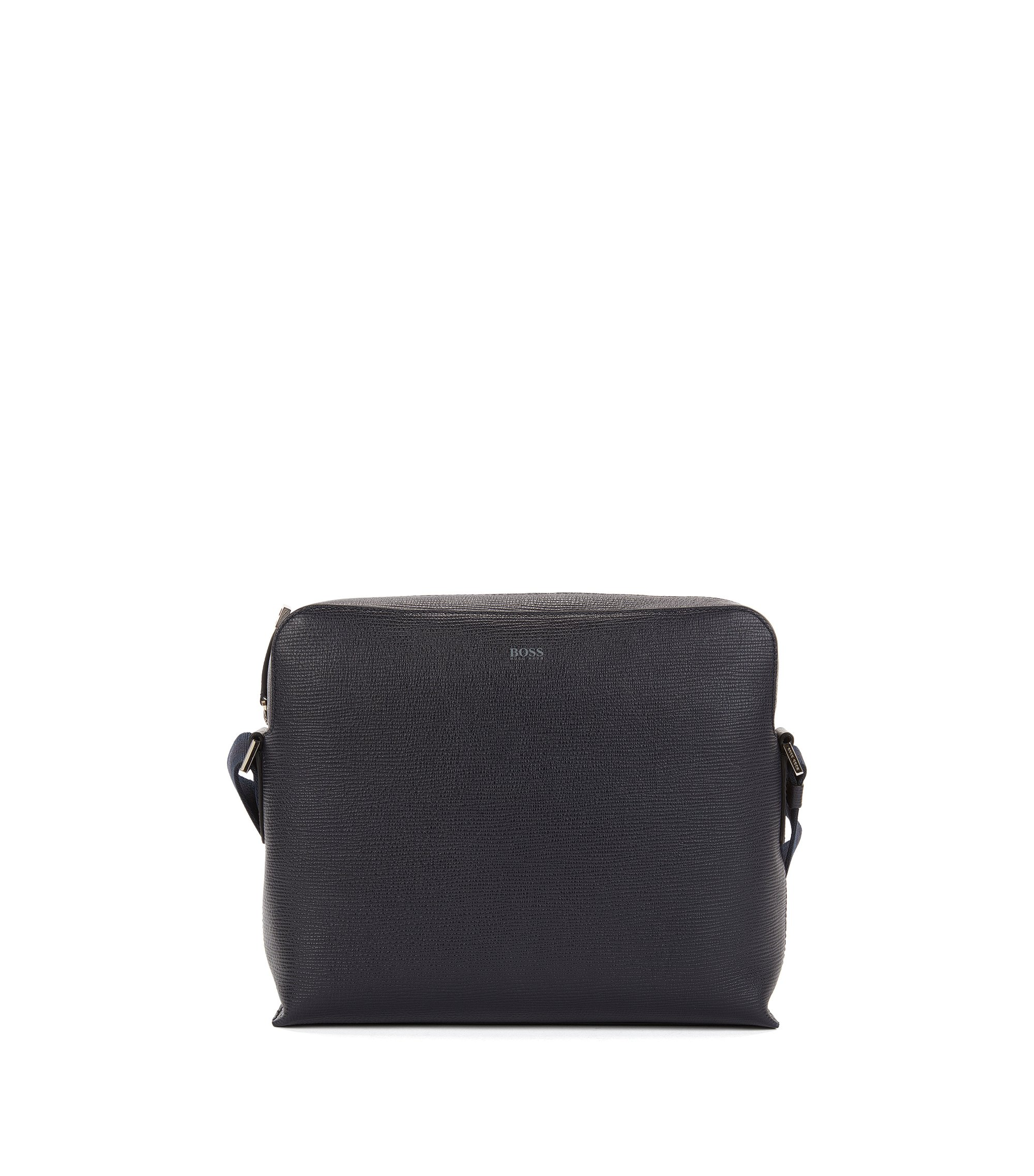 Leather Messenger Bag | Timeless Messenger, Dark Blue