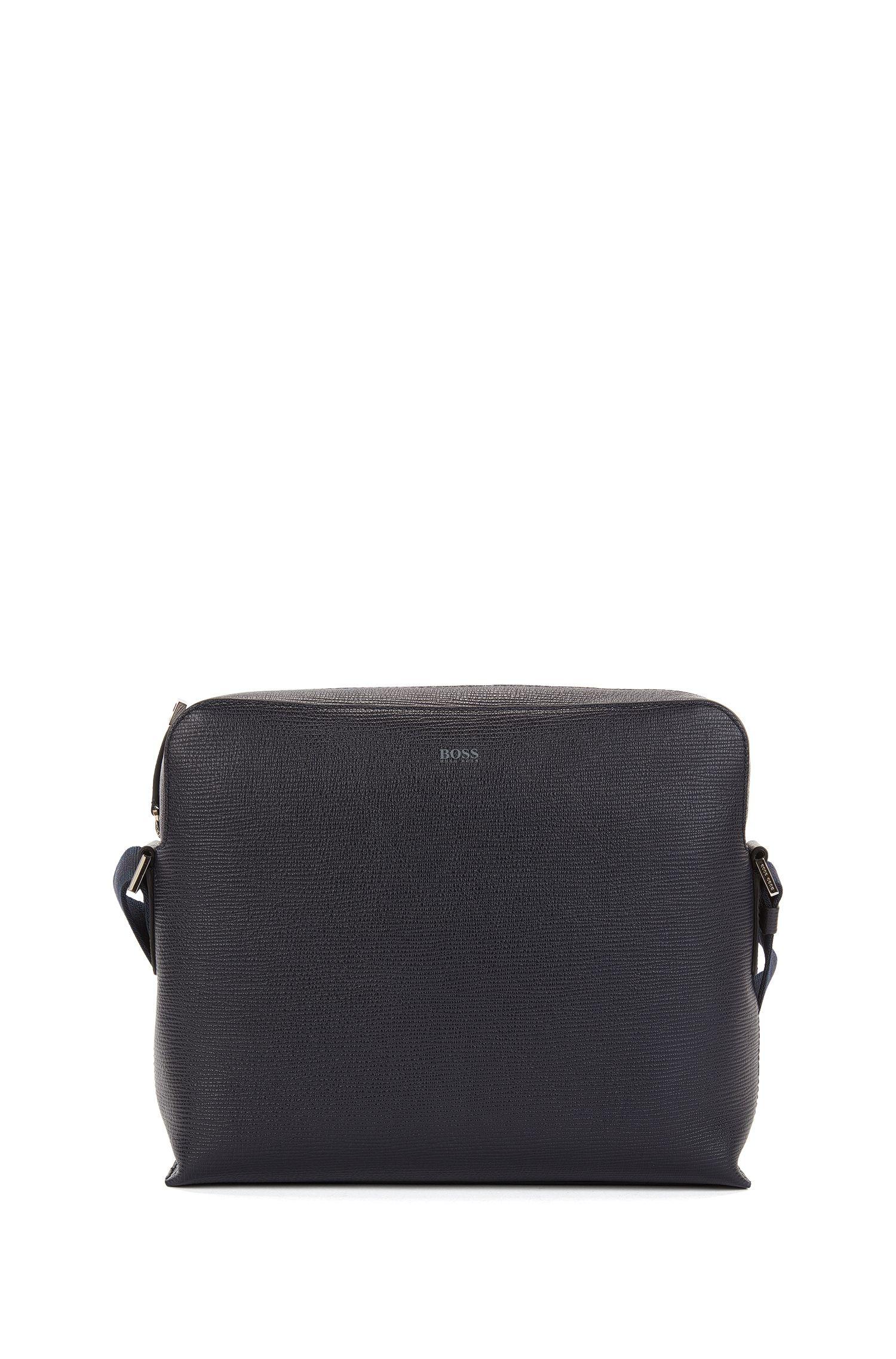 Leather Messenger Bag | Timeless Messenger, Dark Blue