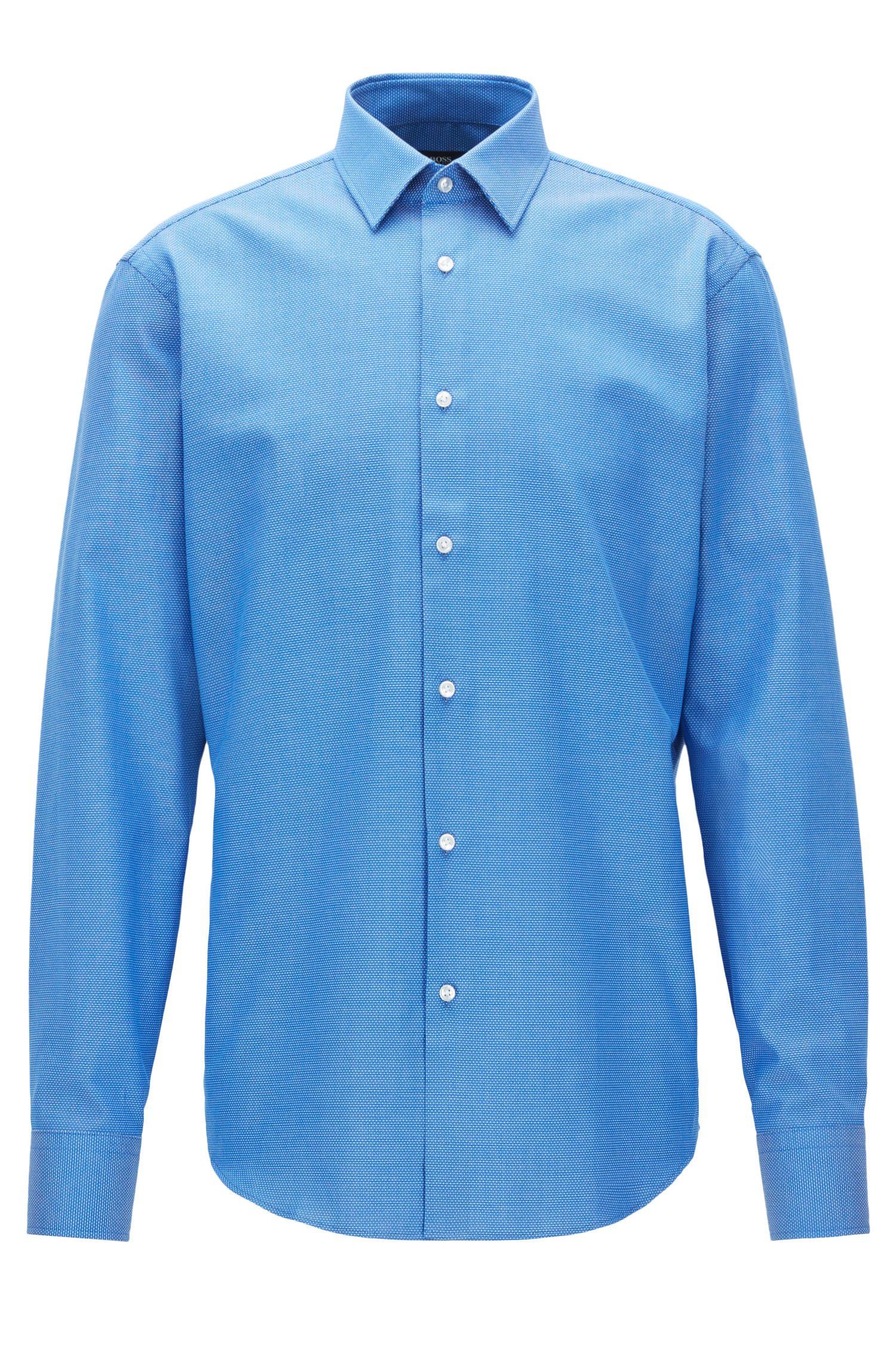 Birdseye Cotton Dress Shirt, Regular Fit | Enzo