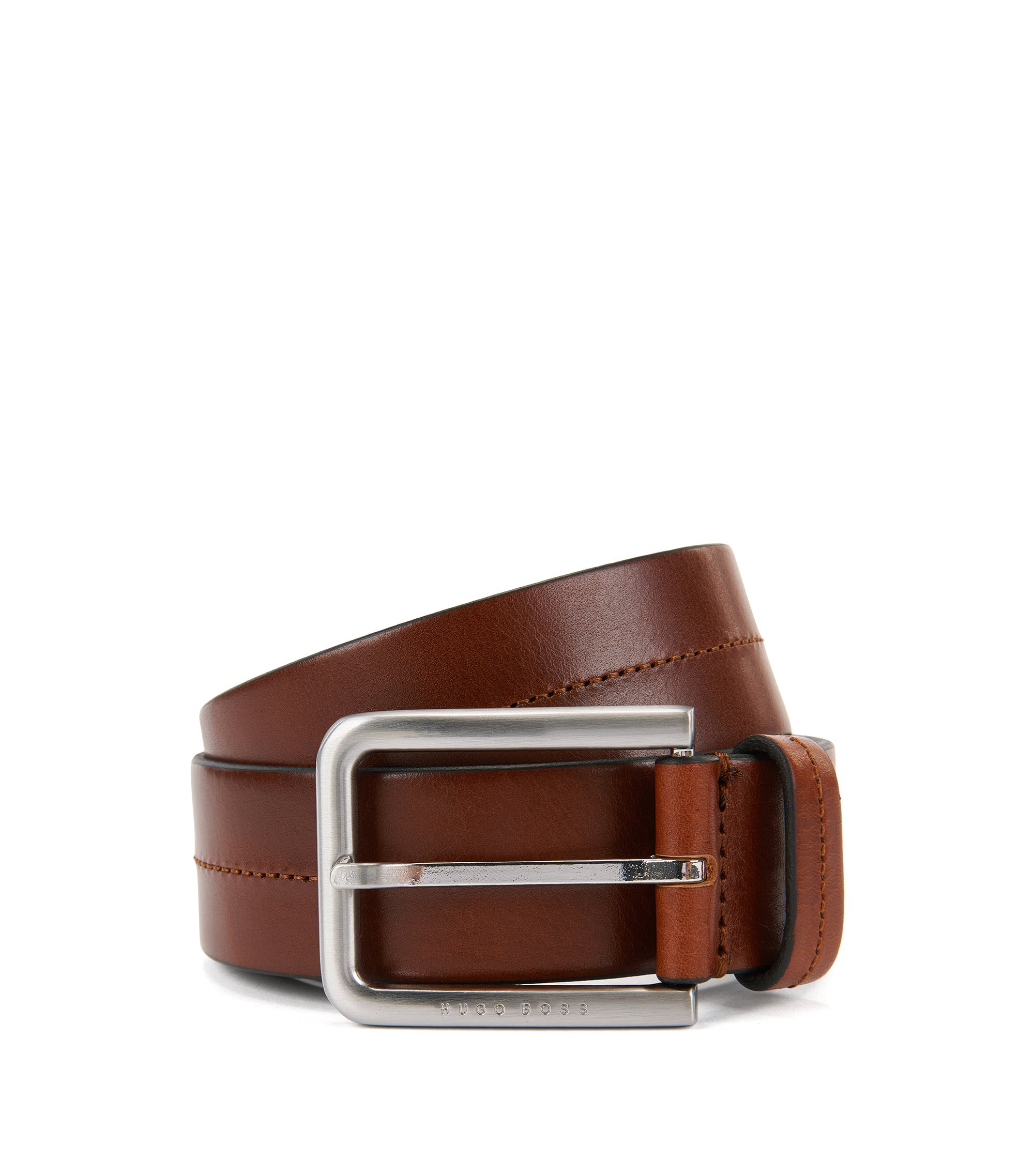 Leather Belt | Sil , Brown