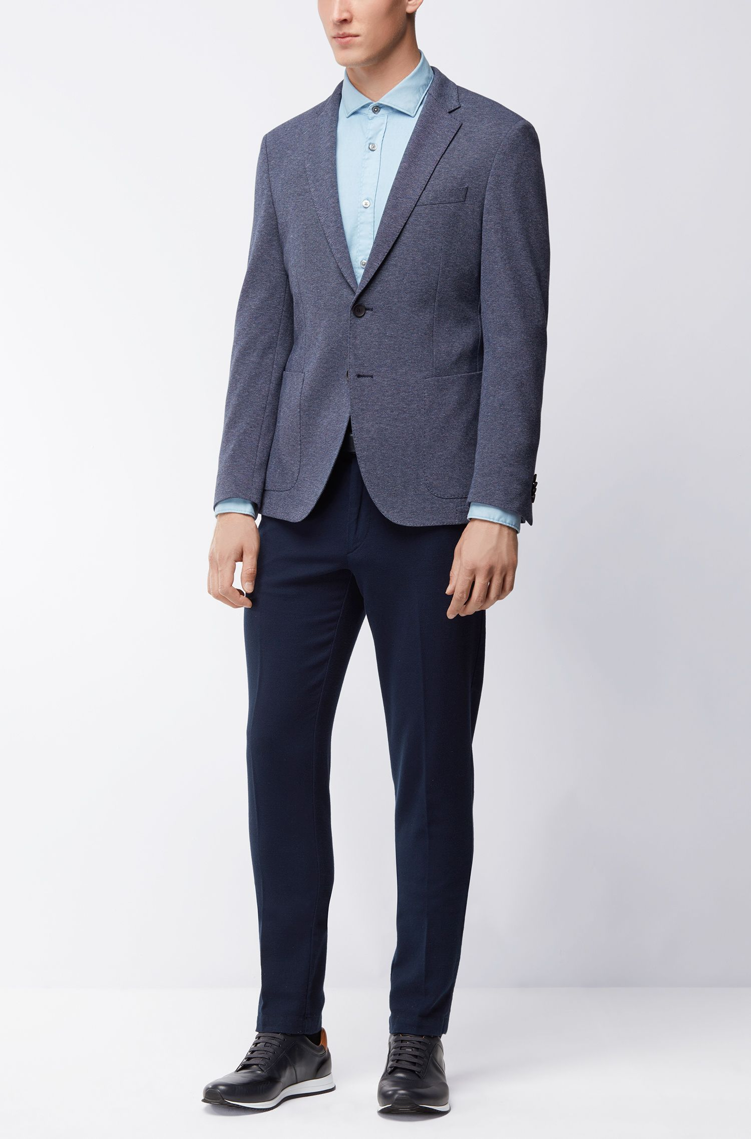 Stretch Tailoring Jersey Sport Coat, Slim Fit | Newon J