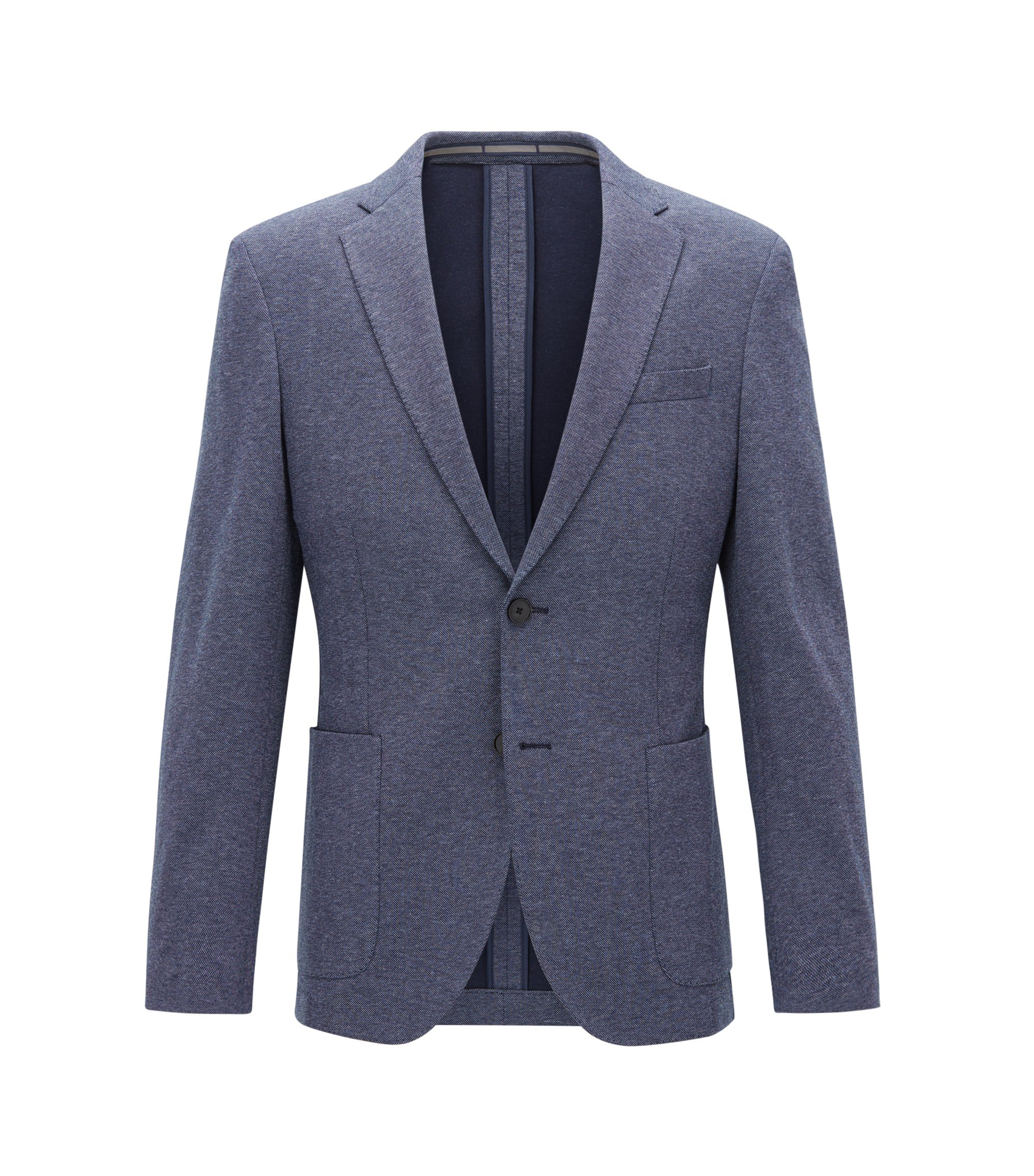 Stretch Tailoring Jersey Sport Coat, Slim Fit | Newon J, Light Blue