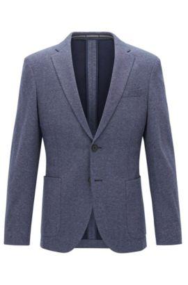 Stretch Tailoring Jersey Sport Coat, Slim Fit | Newon J, Light Blue