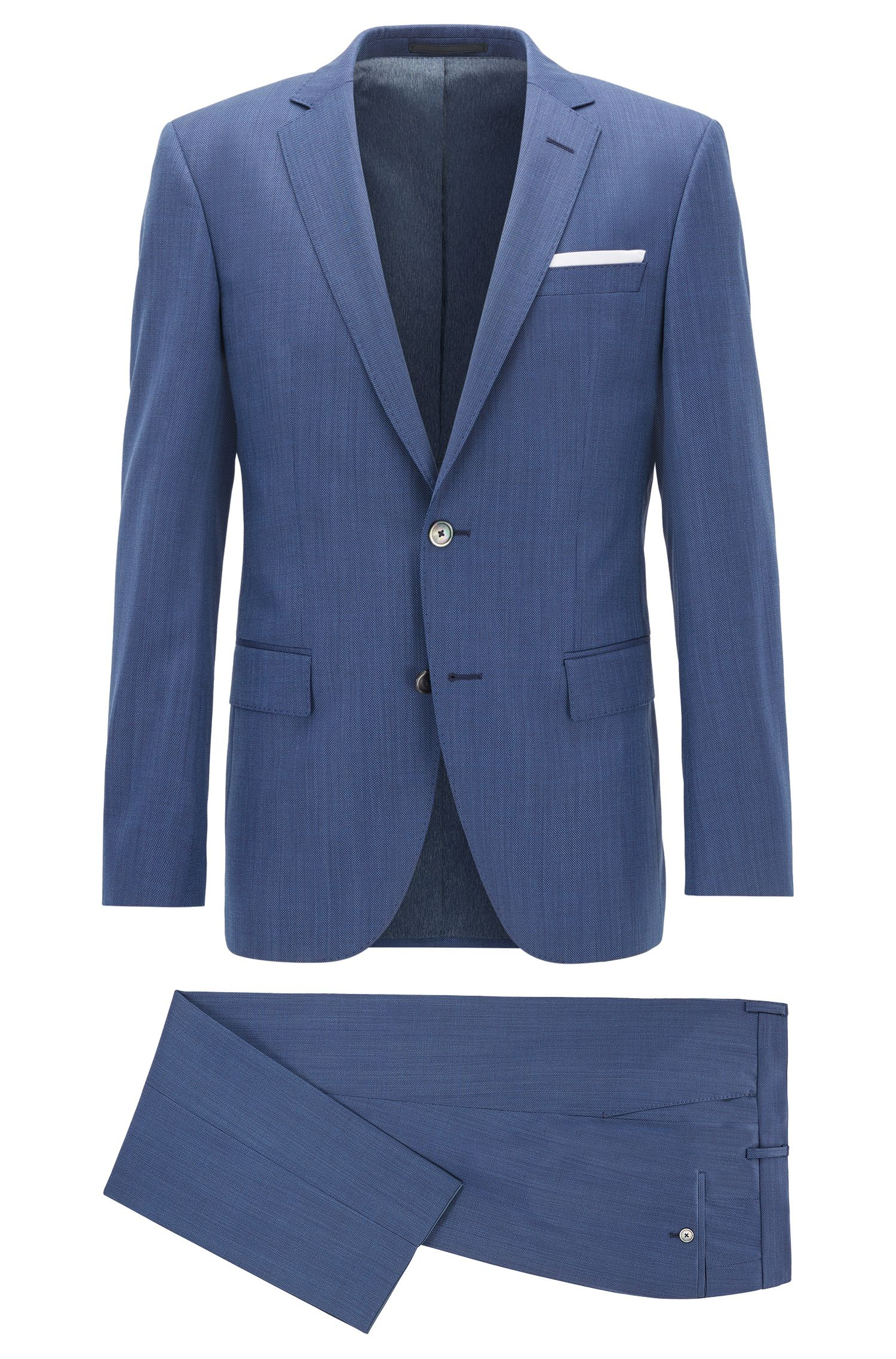 Nailhead Virgin Wool Suit, Slim Fit | Hutson/Gander