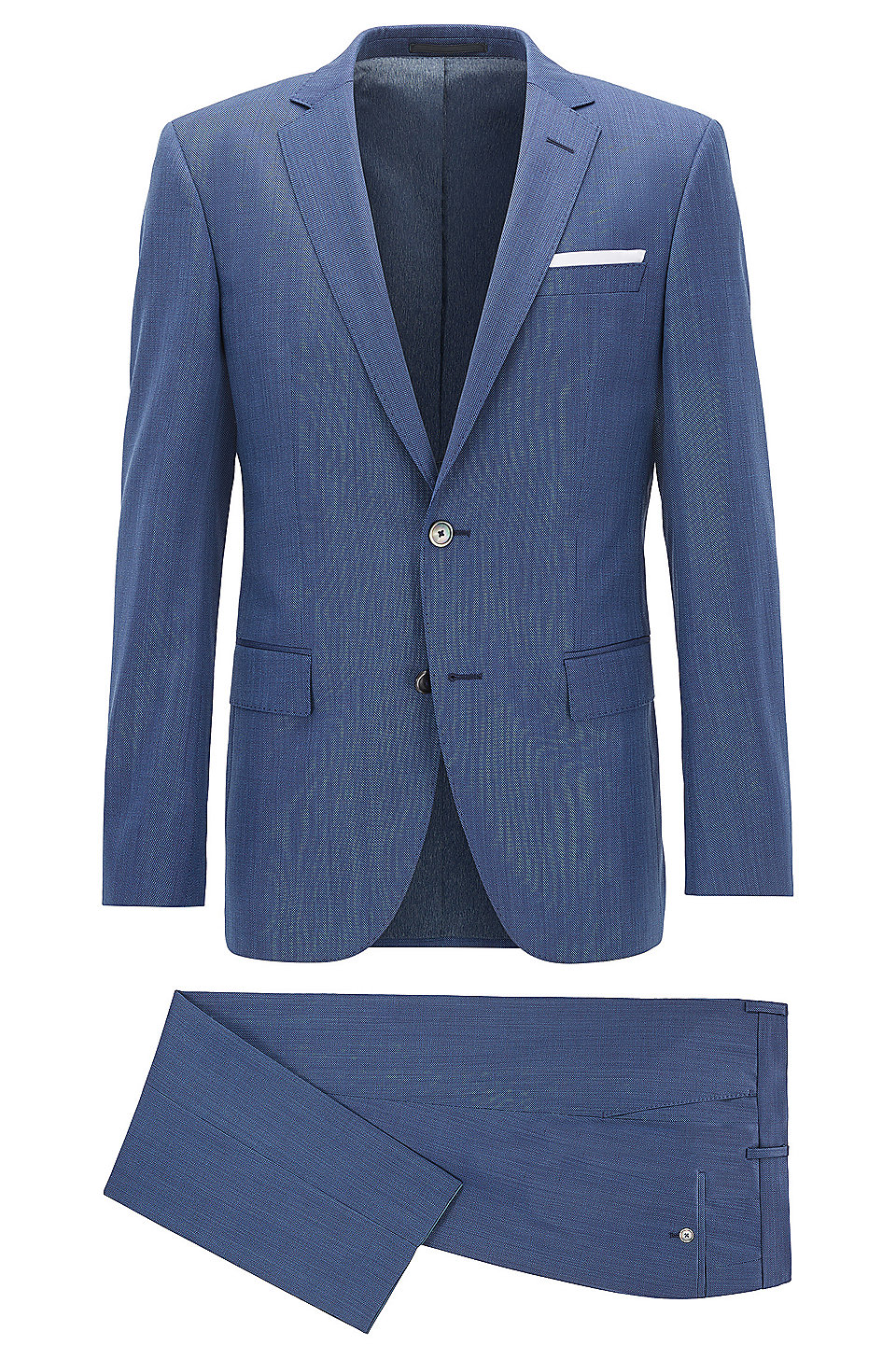 BOSS - Nailhead Virgin Wool Suit, Slim Fit | Hutson/Gander