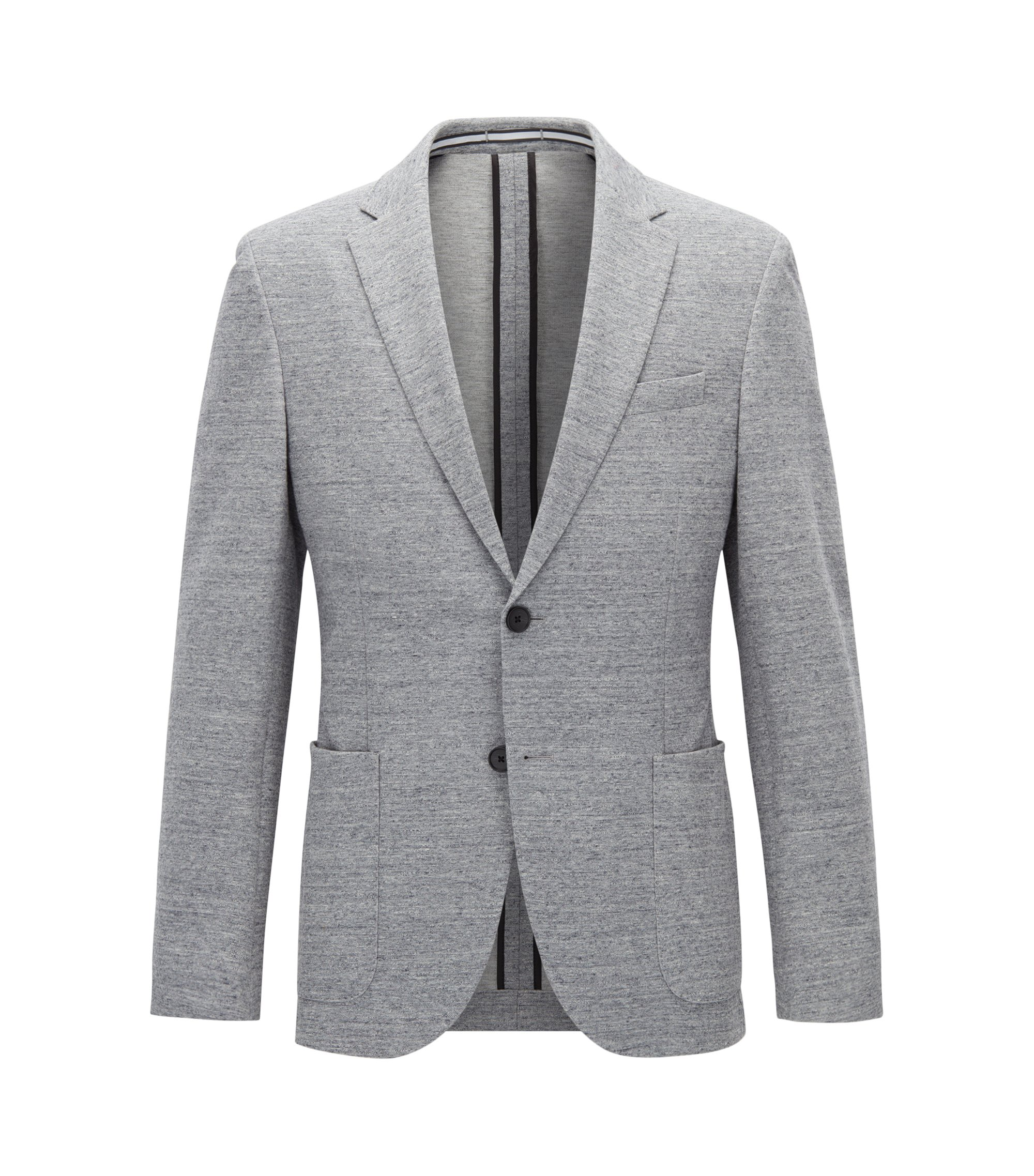 Jersey blend Tweed Sport Coat, Slim Fit | Newon J, Open Grey