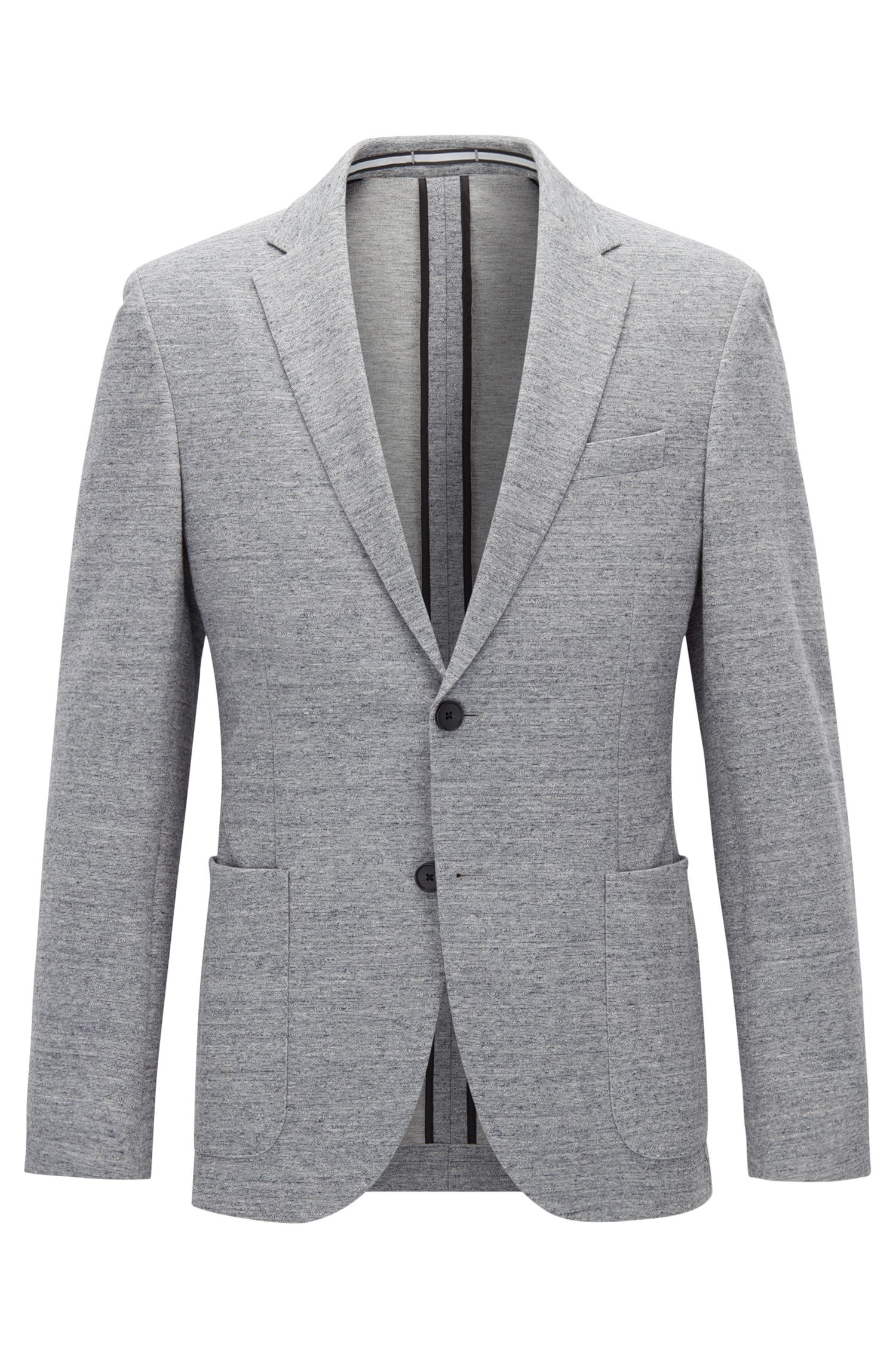 Jersey blend Tweed Sport Coat, Slim Fit | Newon J