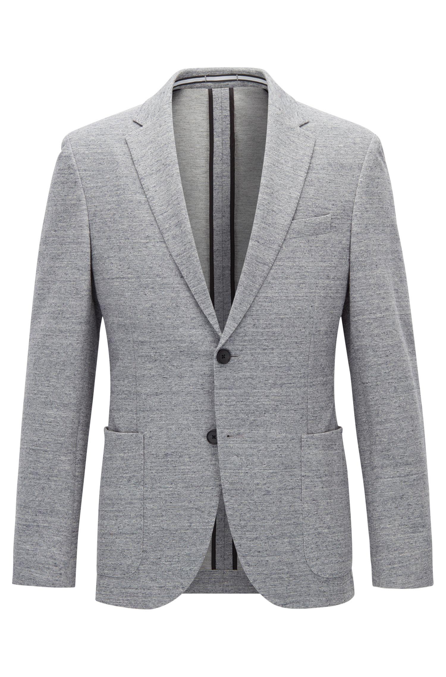 Jersey blend Tweed Sport Coat, Slim Fit   Newon J
