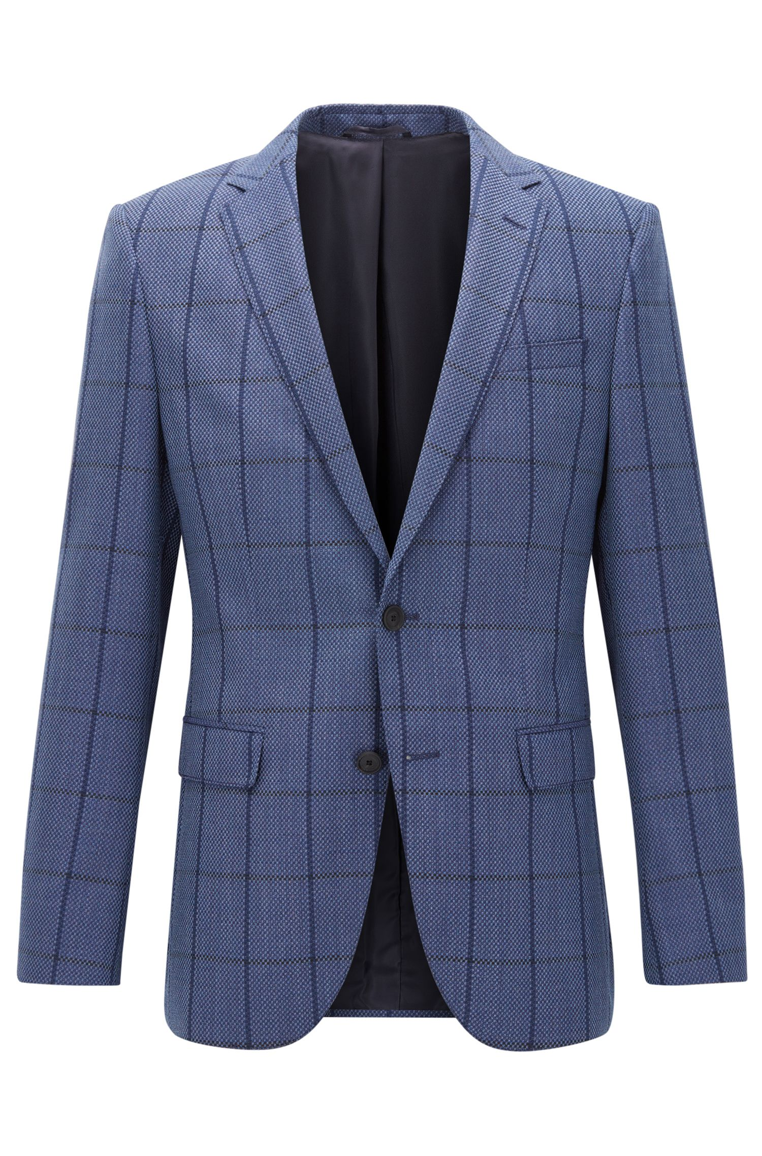 Windowpane Virgin Wool Sport Coat, Slim Fit | Nasley