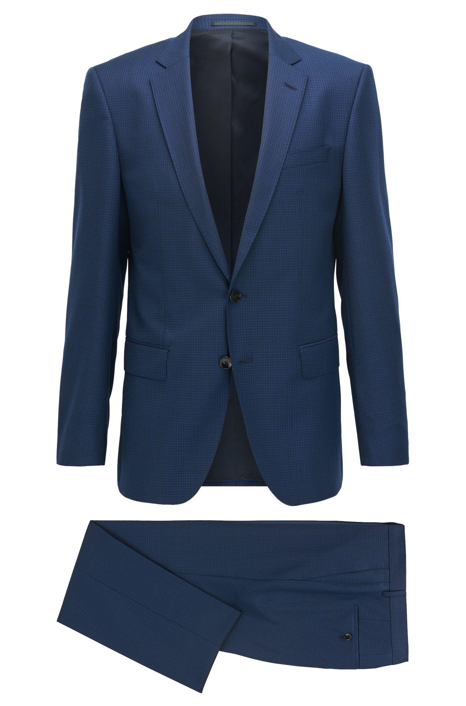 Stretch Tailoring Italian Wool Suit, Slim Fit | Huge/Genius