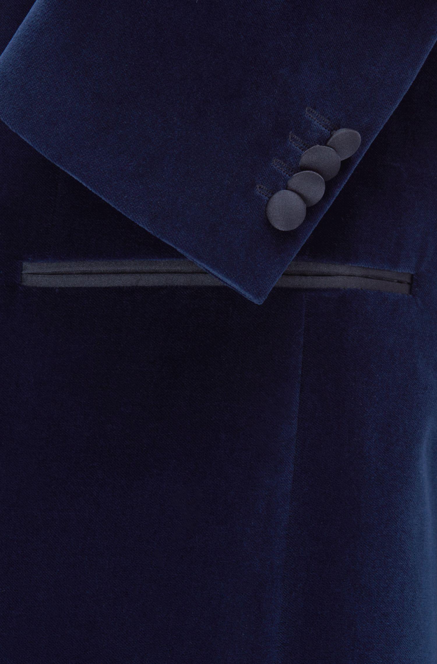 Velvet Dinner Jacket, Slim Fit | Nemir , Dark Blue