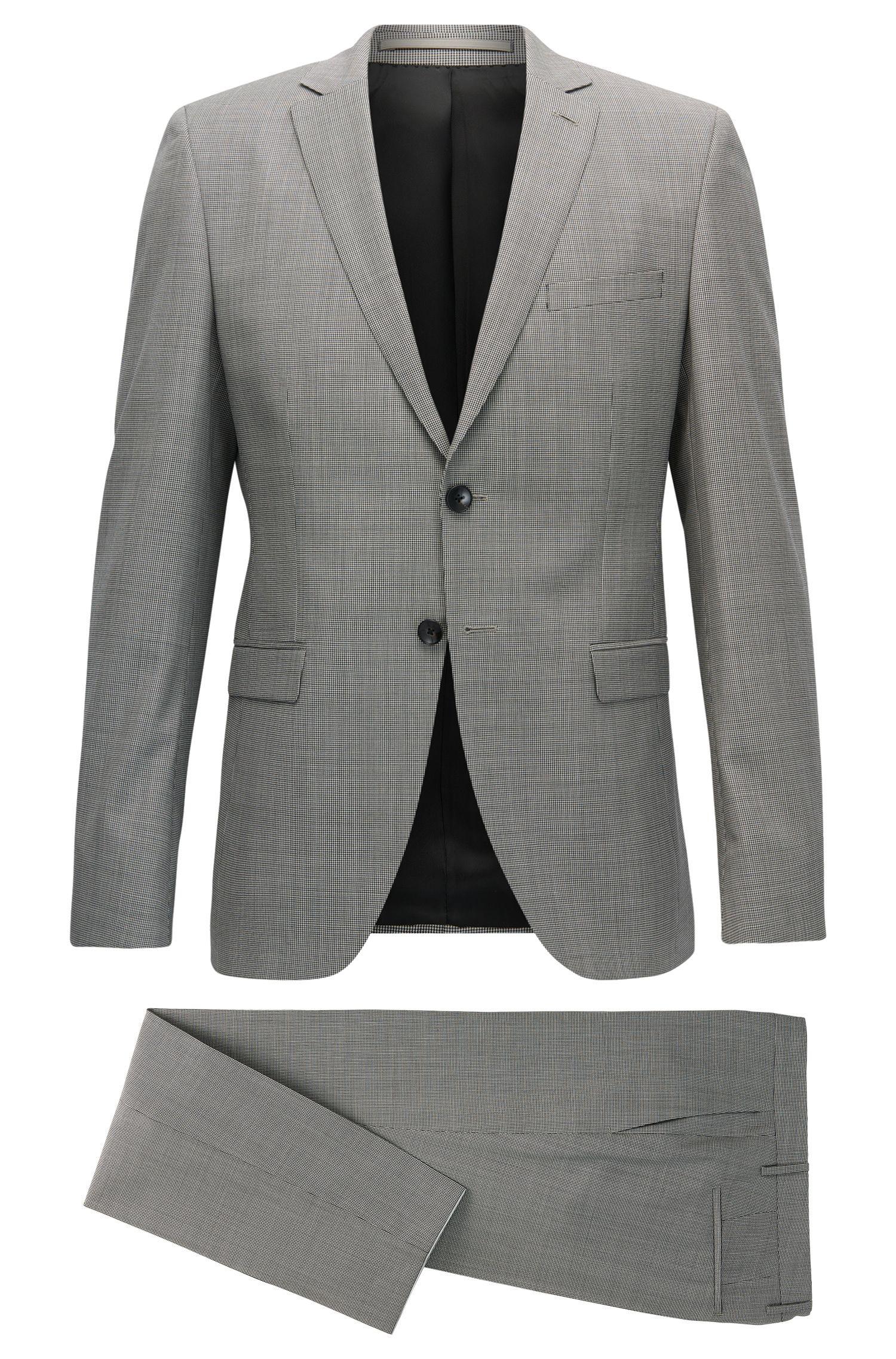 Puppytooth Virgin Wool Suit, Extra Slim Fit | Reymond/Wenton