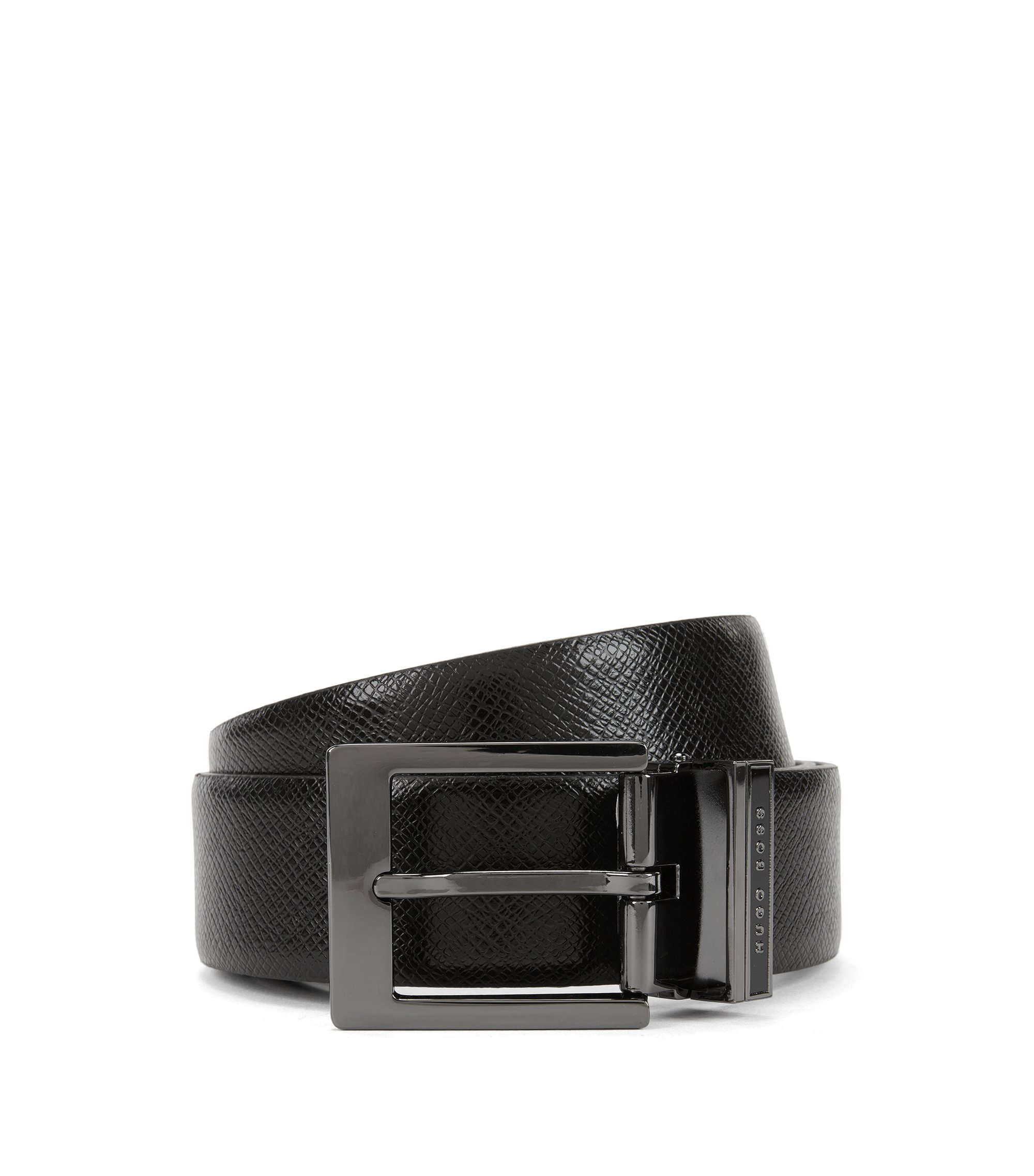 Embossed Leather Belt | Olaf Or35 Ps, Black
