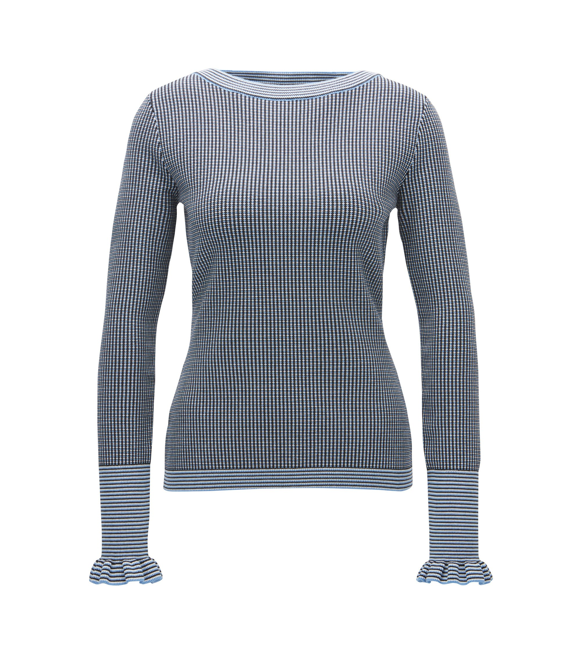 Italian Stretch Sweater | Firusa, Patterned