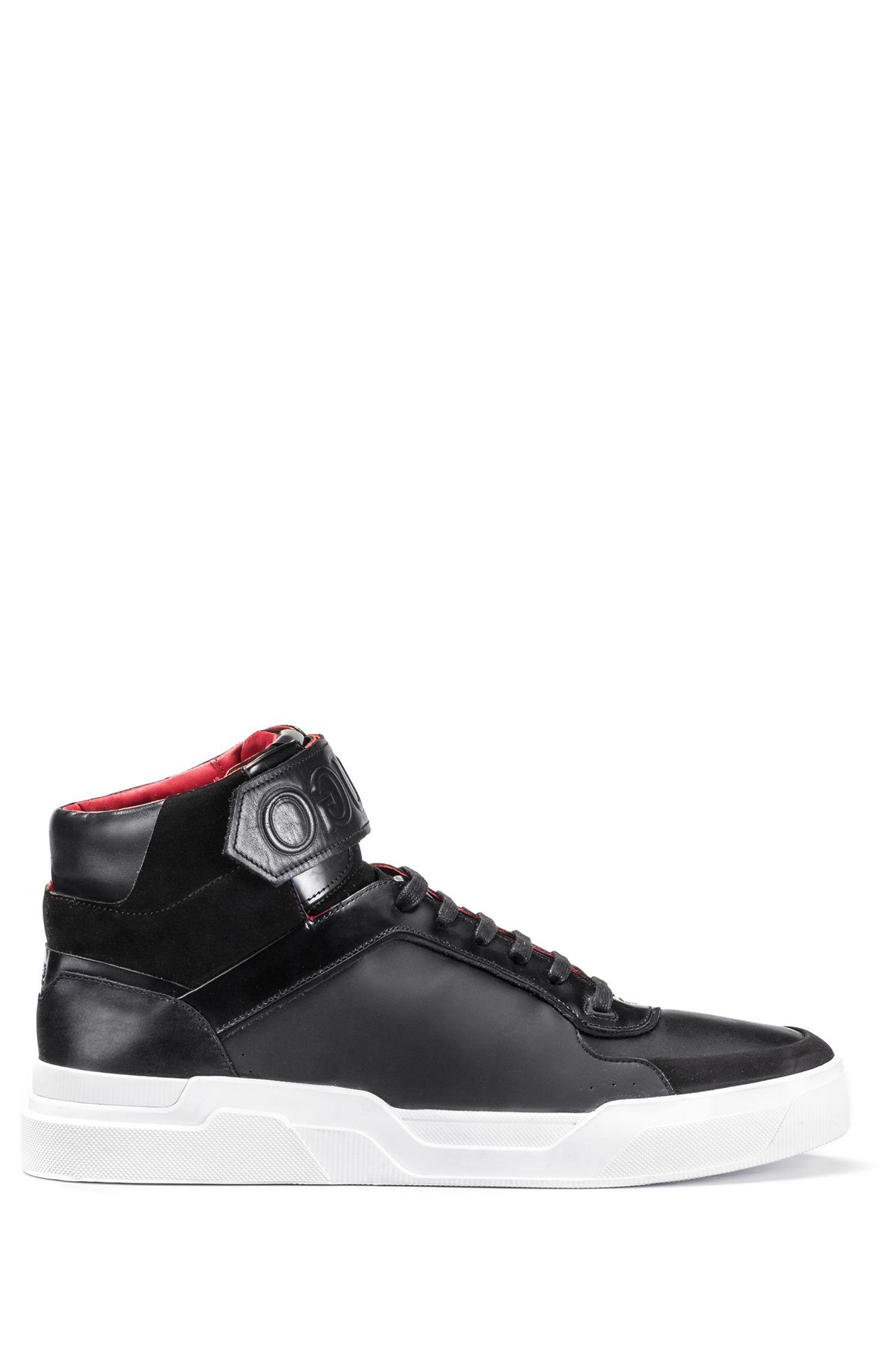 Leather High-Top Sneaker | Symmetric Hito Hugo