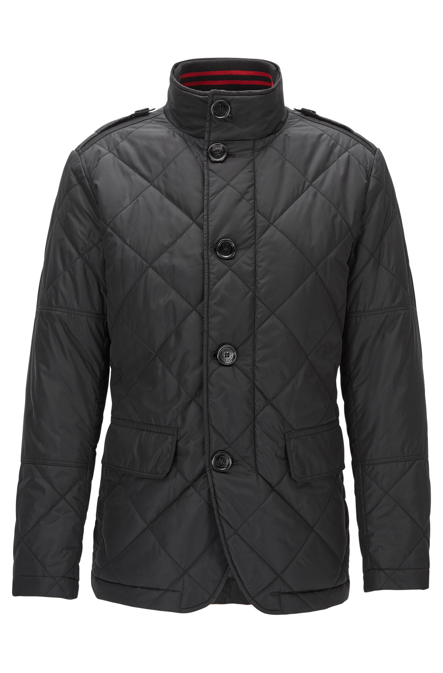 Water-Repellent Quilted Jacket | Cadell, Black