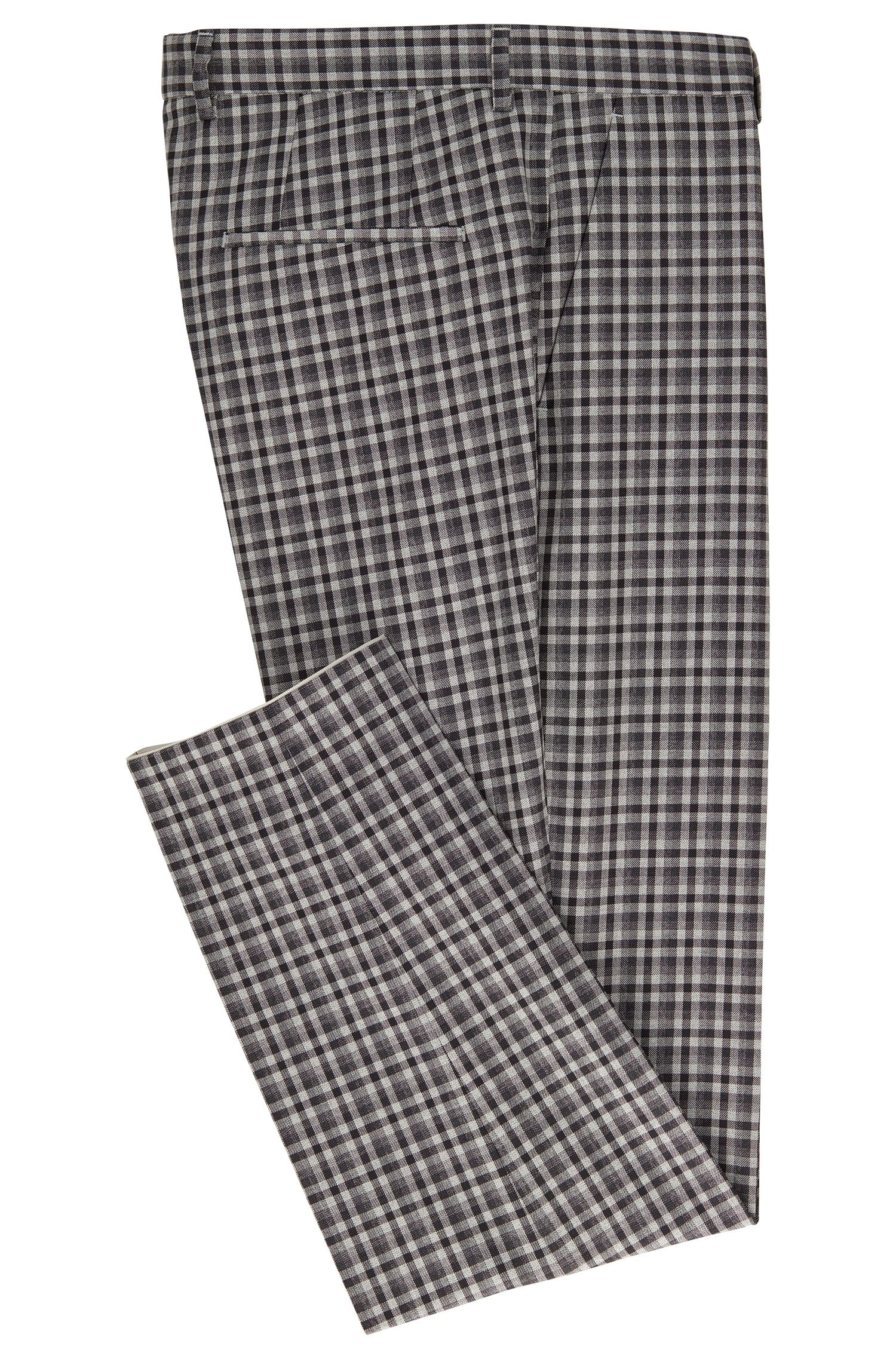 Checked Wool Dress Pant, Slim Fit | Pirko