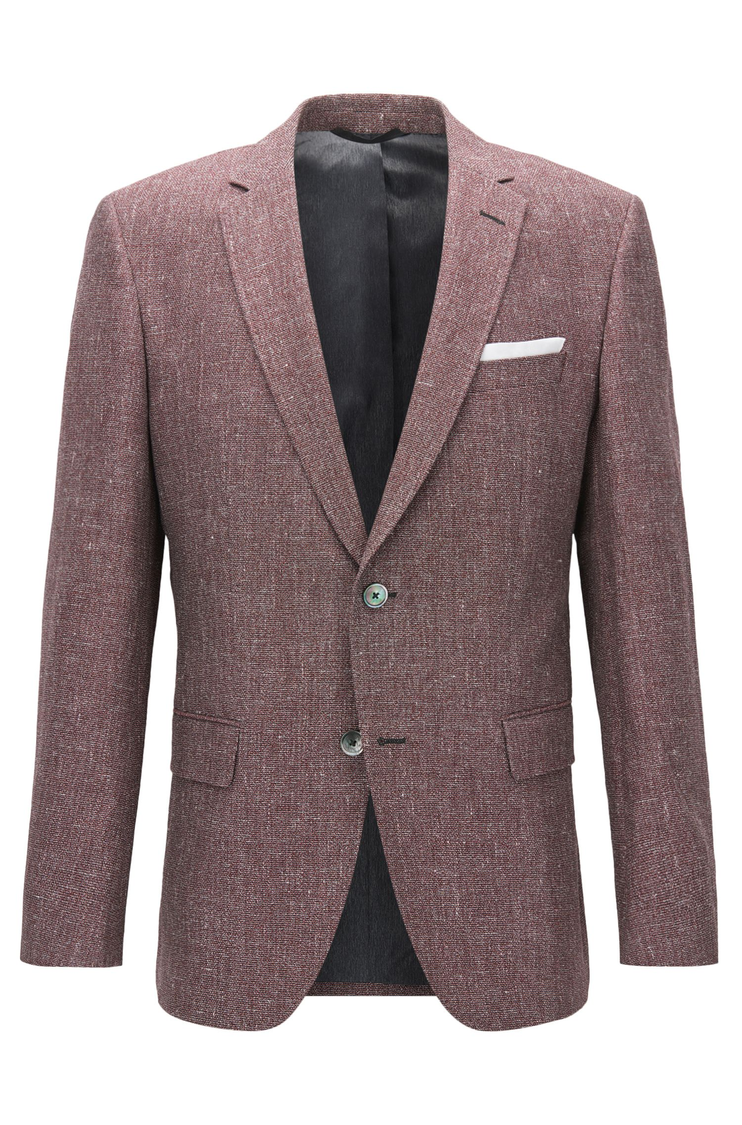 Melange Cotton-Linen Sport Coat, Slim Fit | Hutsons