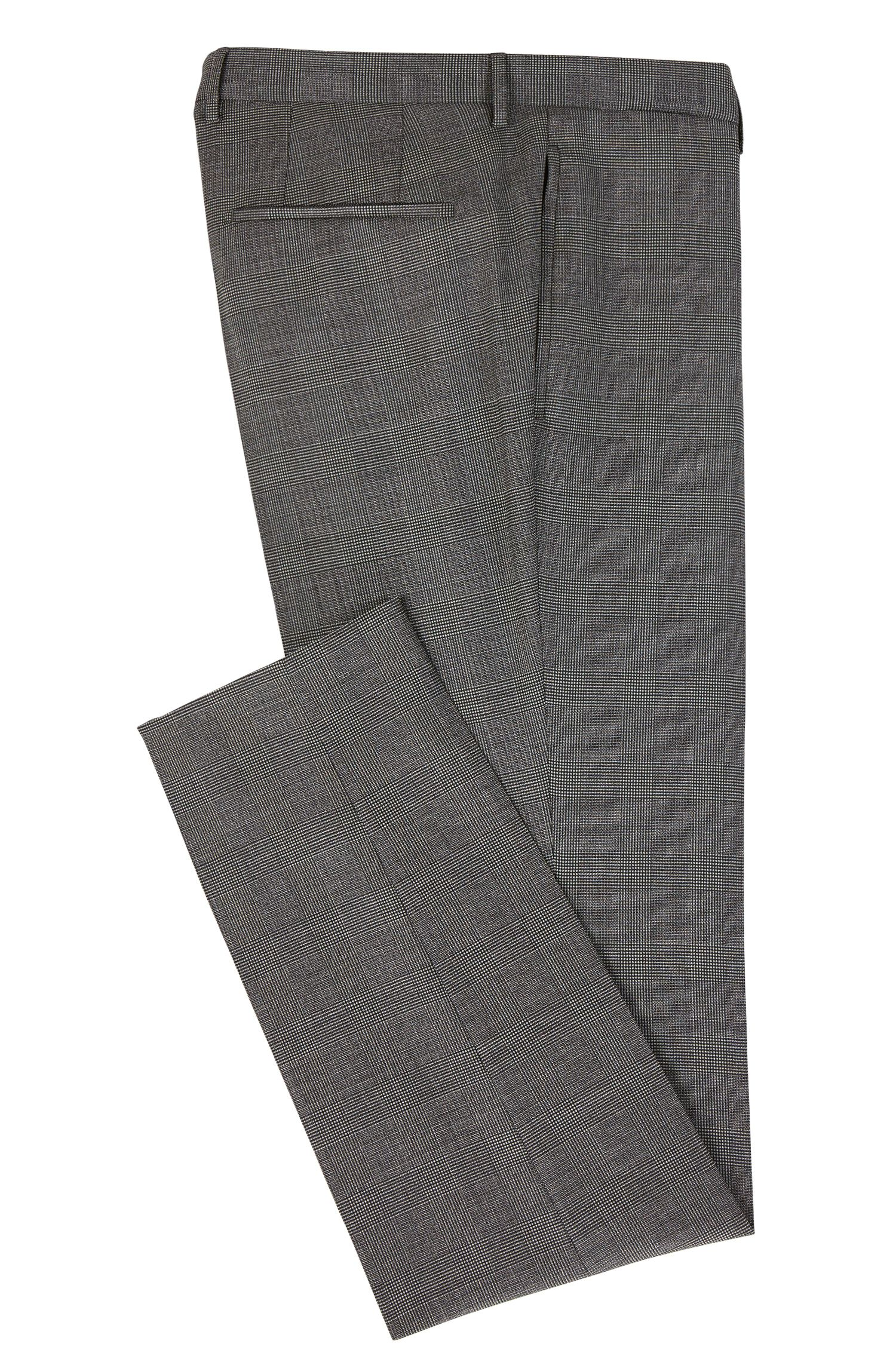 Glen Plaid Virgin Wool, Slim Fit | T-Gary