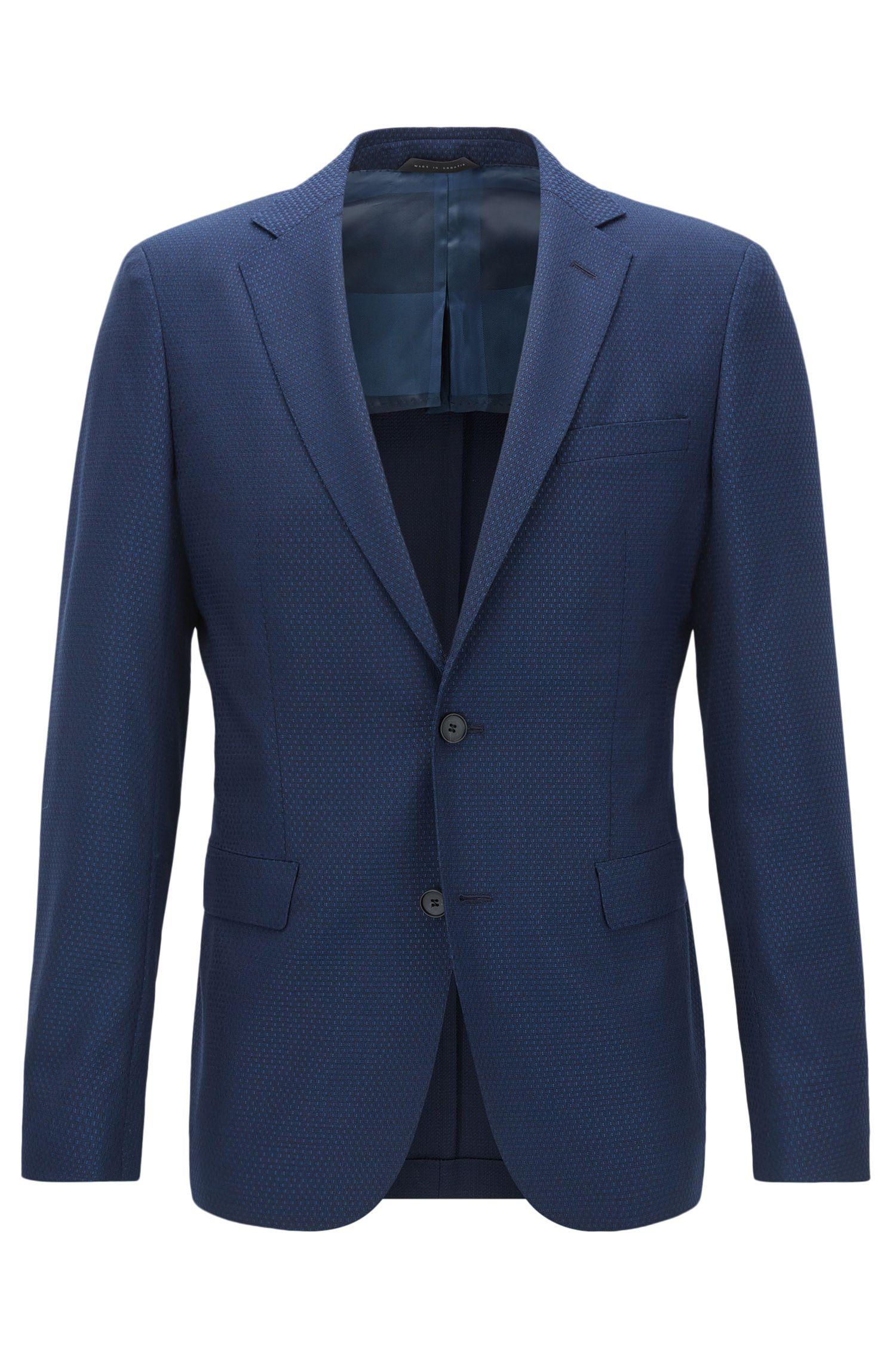 Basketweave Virgin Wool Sport Coat, Extra Slim Fit | Roan