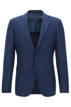 Basketweave Virgin Wool Sport Coat, Extra Slim Fit | Roan, Dark Blue