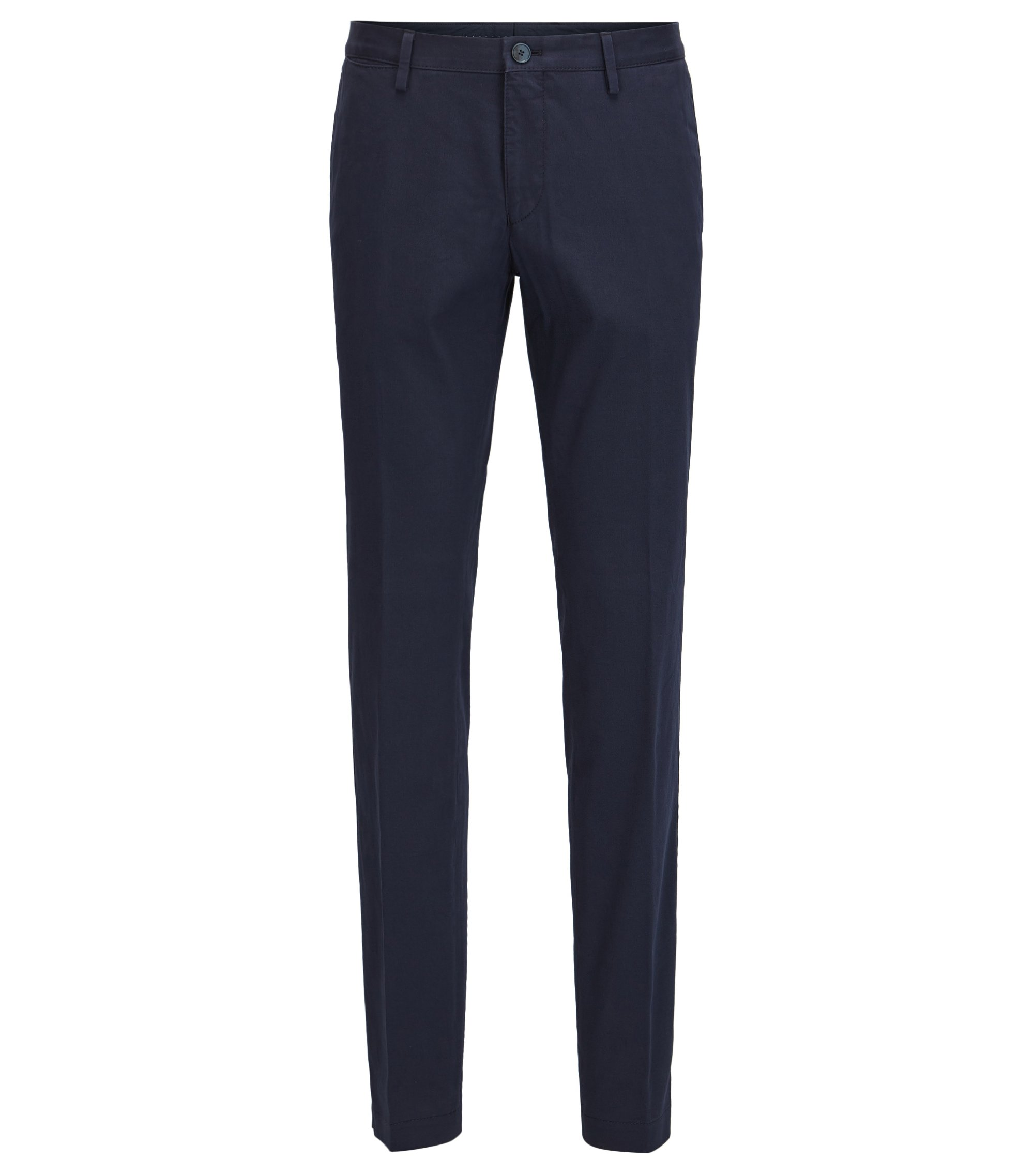 Stretch Cotton Pant, Slim Fit | Stanino W, Dark Blue